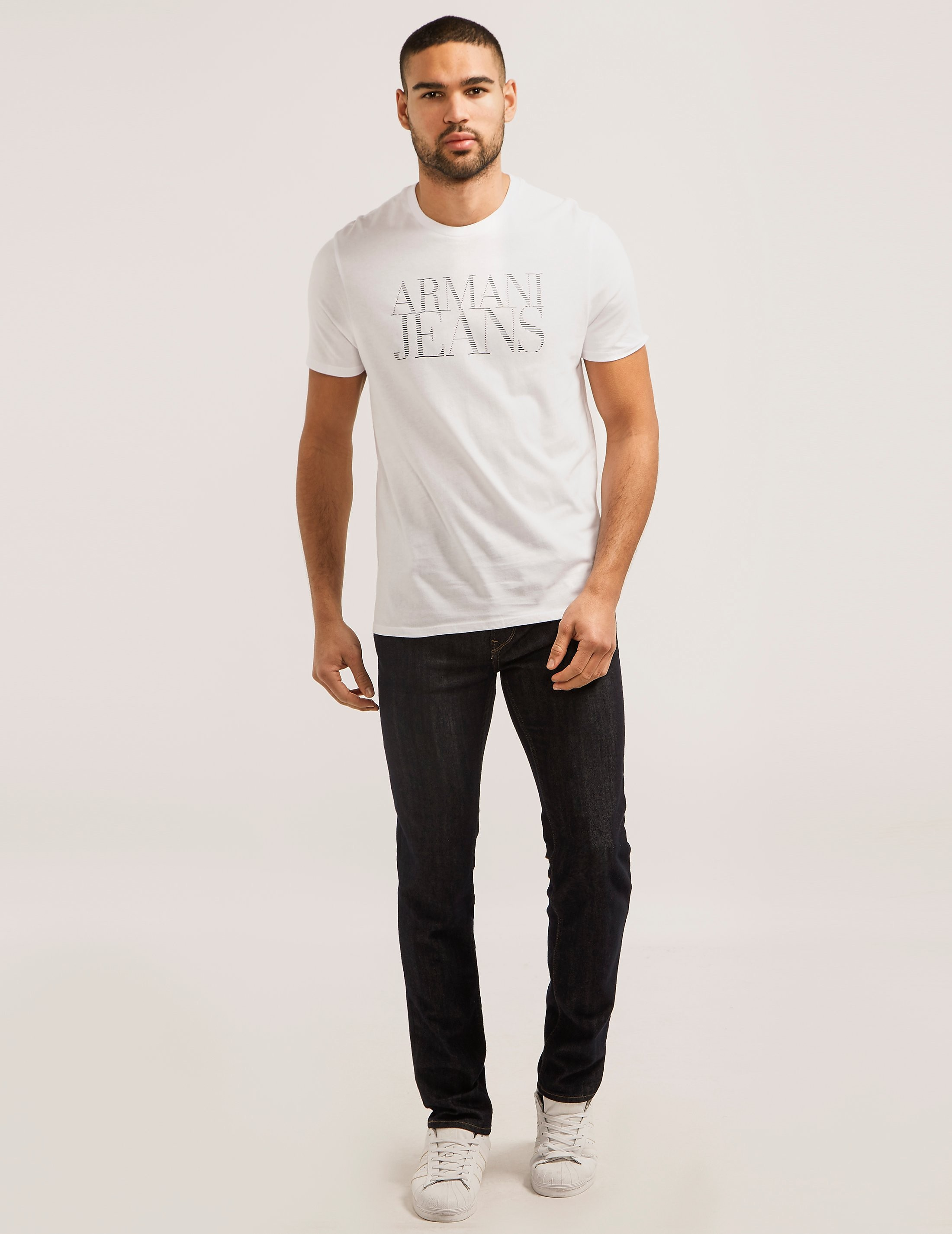 Armani Jeans Script Logo Short Sleeve T-Shirt