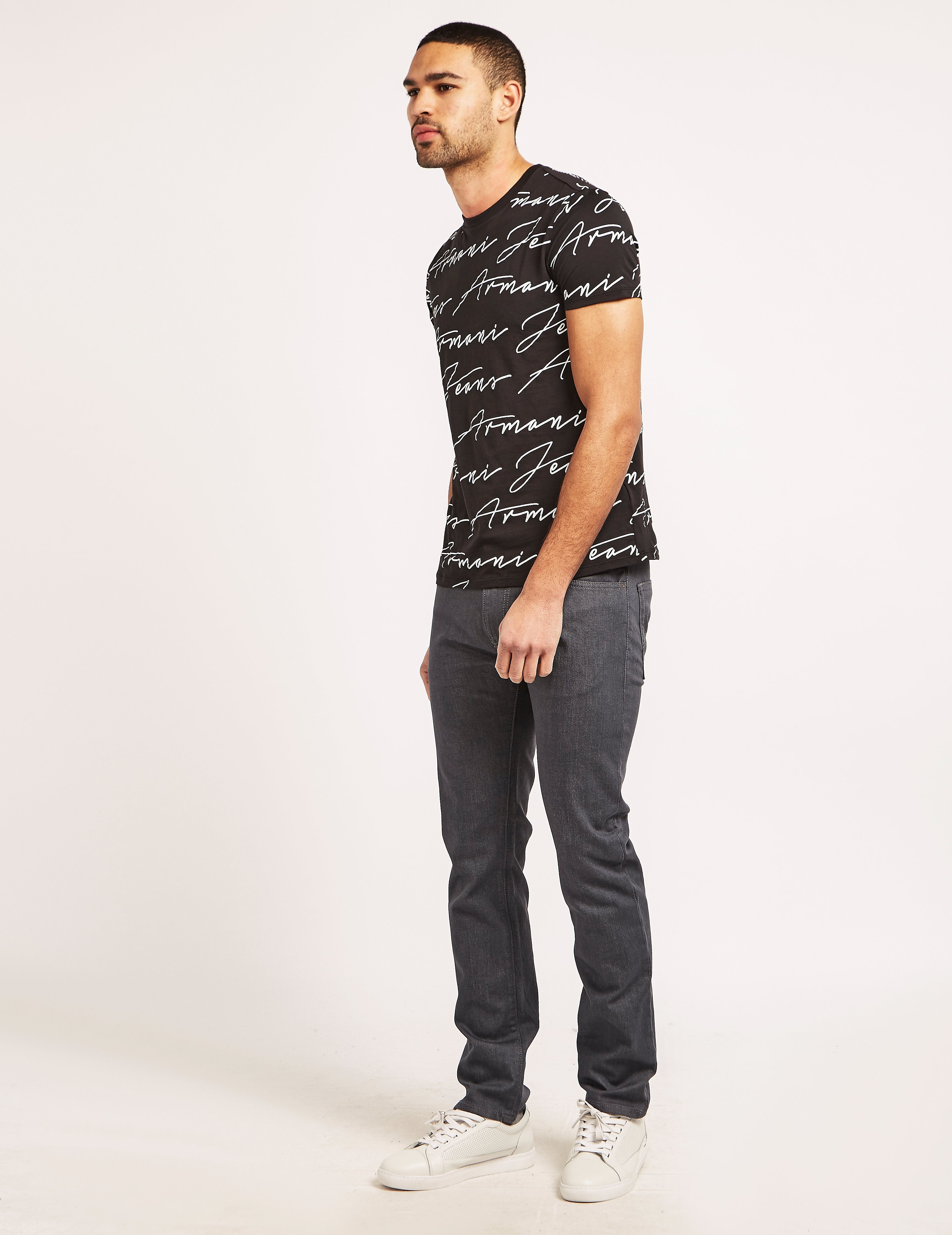 Armani Jeans Sign Print T-Shirt