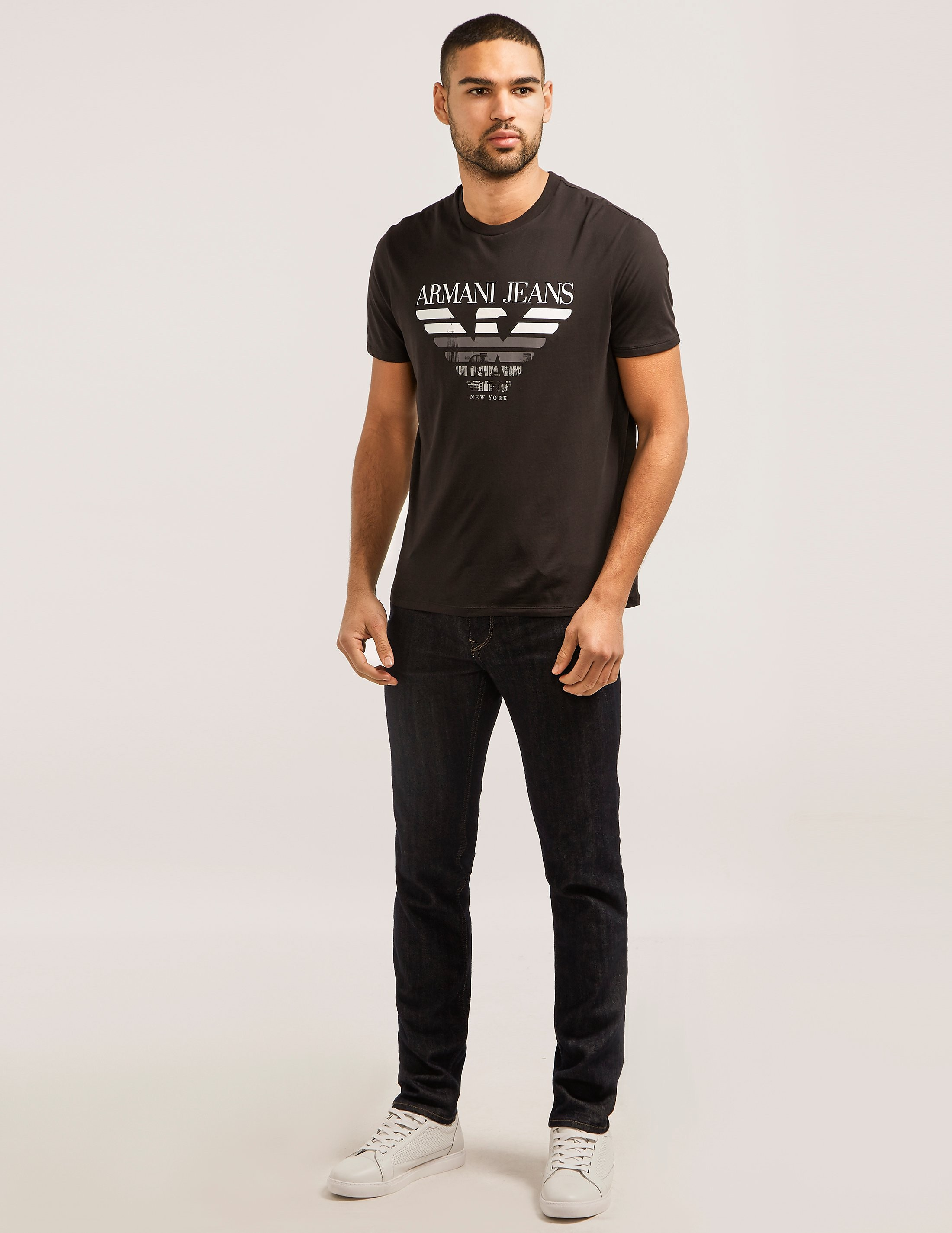 Armani Jeans City Print Short Sleeve T-Shirt