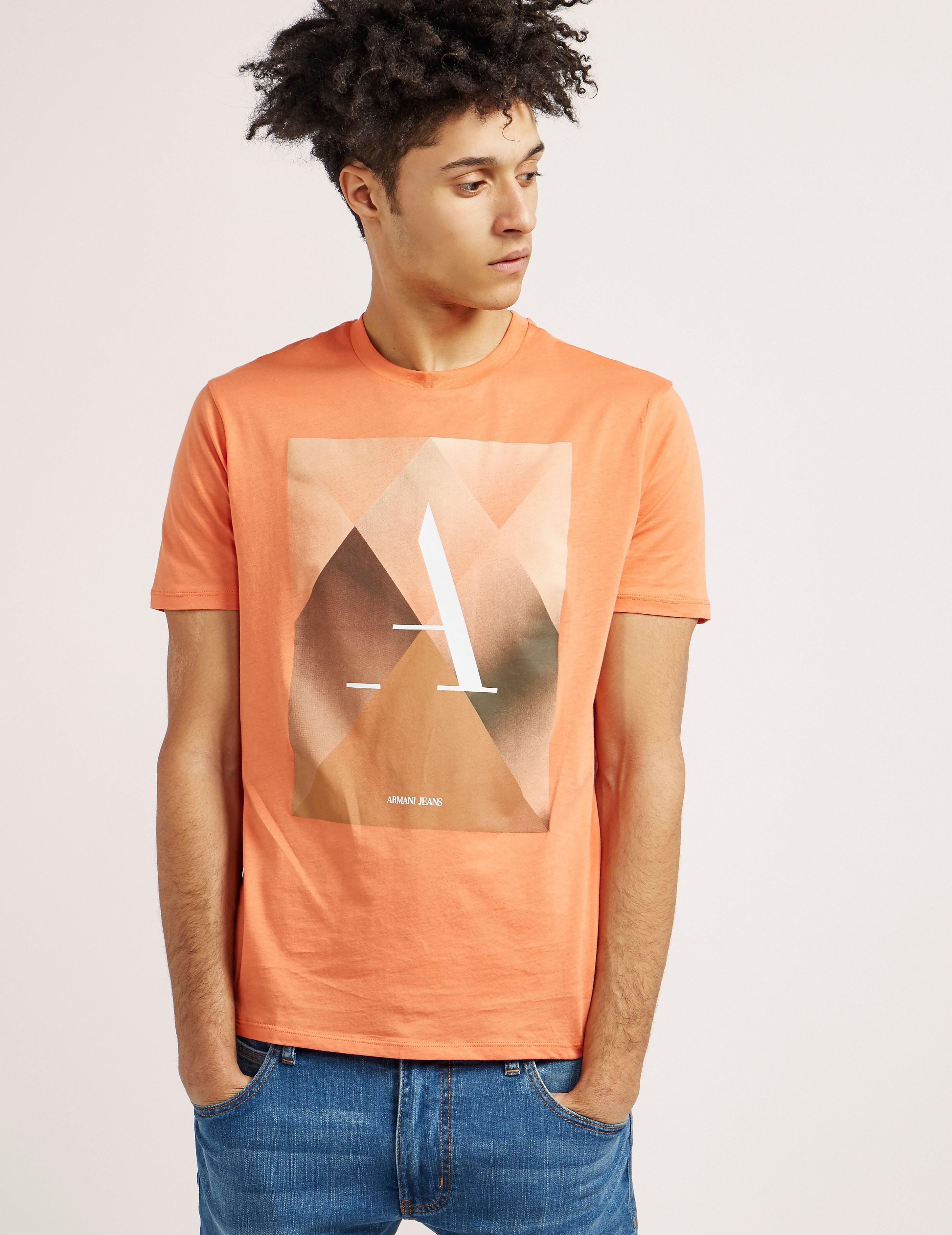 Armani Jeans Short Sleeve Traingle T-Shirt