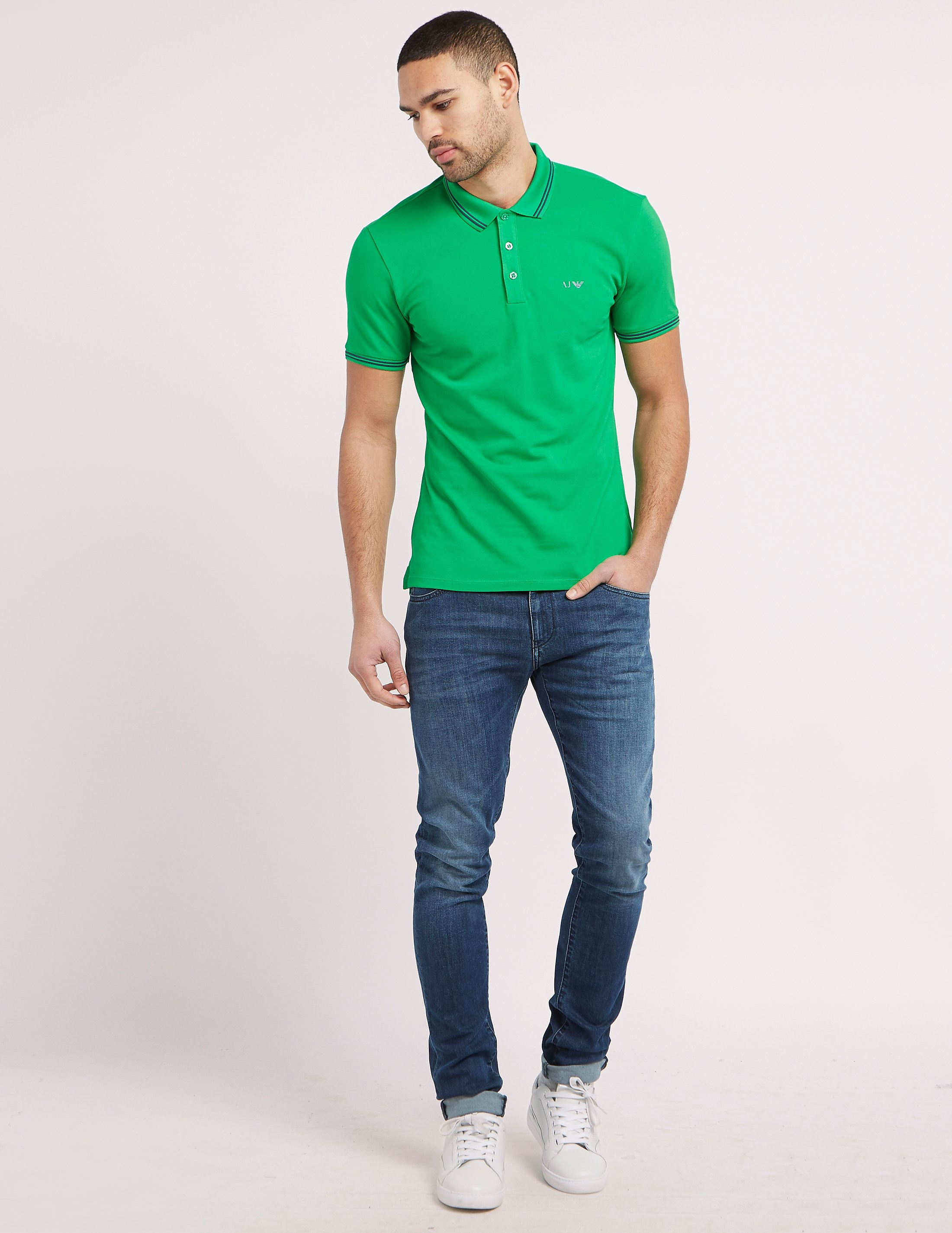 Armani Jeans Tipped Polo Shirt