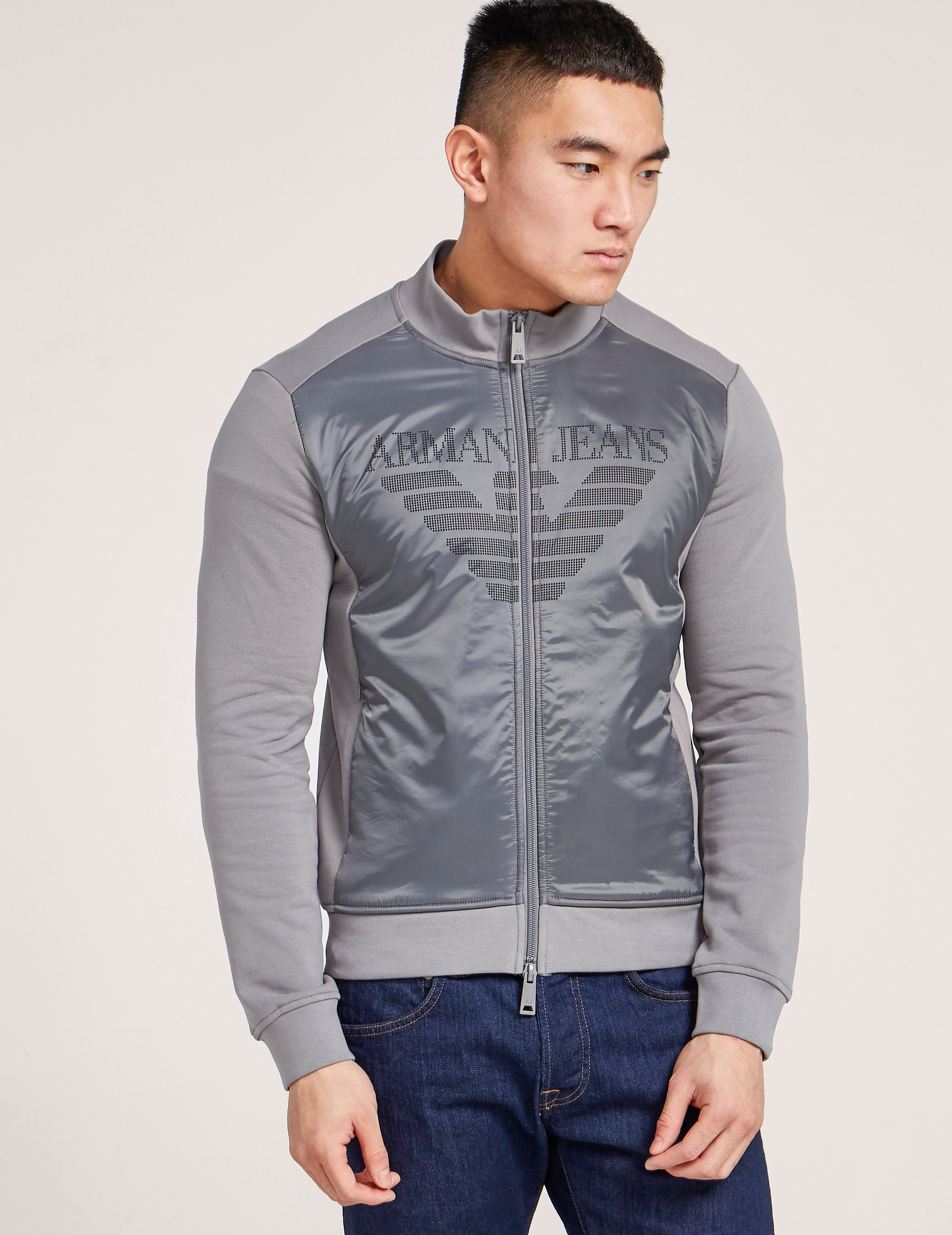 Armani Jeans Nylon Panel Sweatshirt