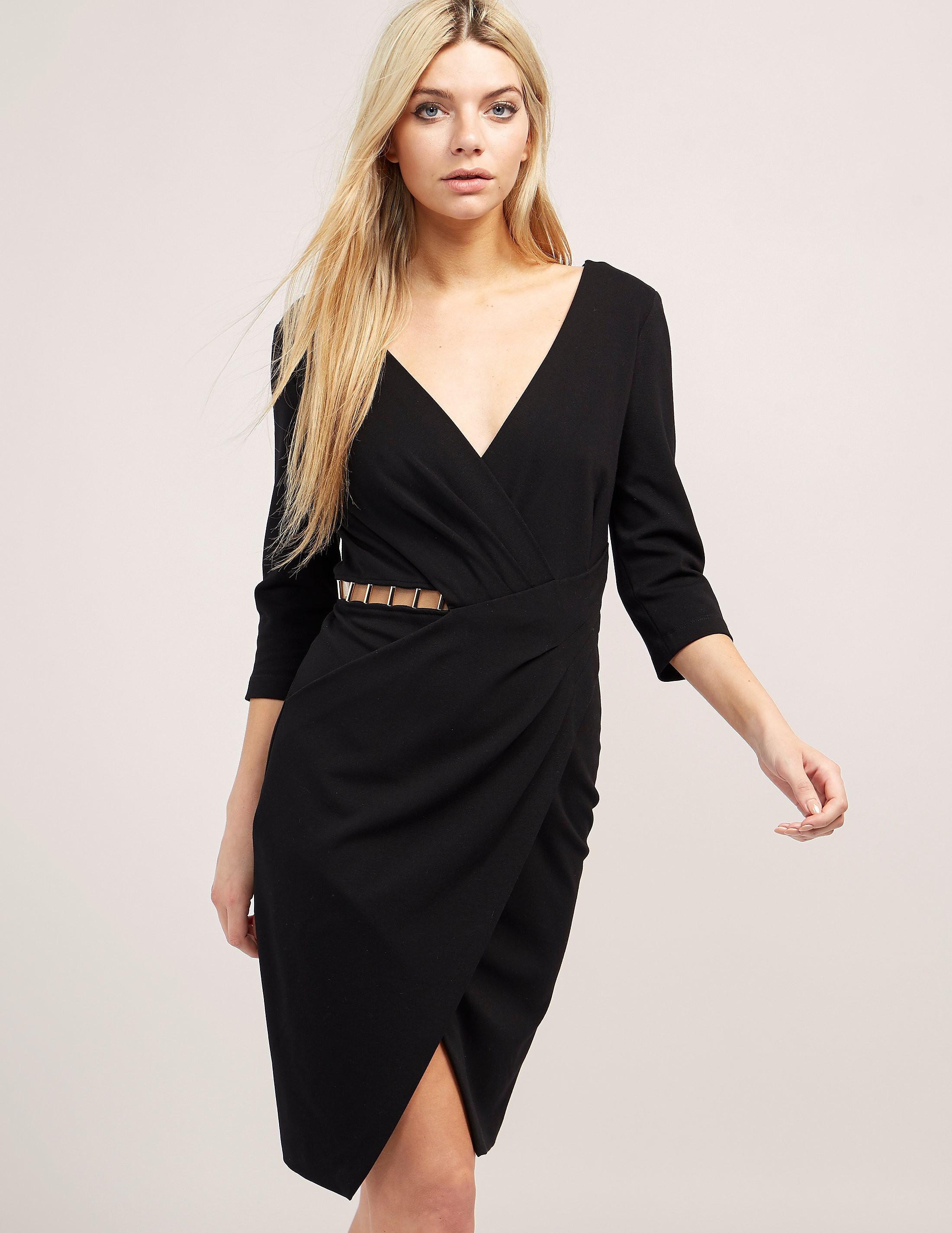 Versace Cut Out Wrap Dress