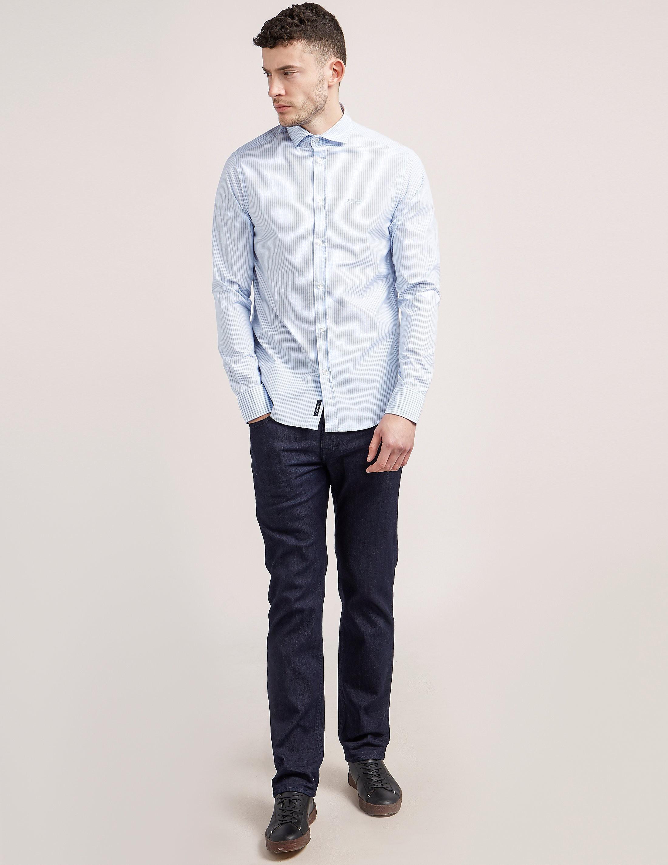 Armani Jeans Stripe Long Sleeve Shirt