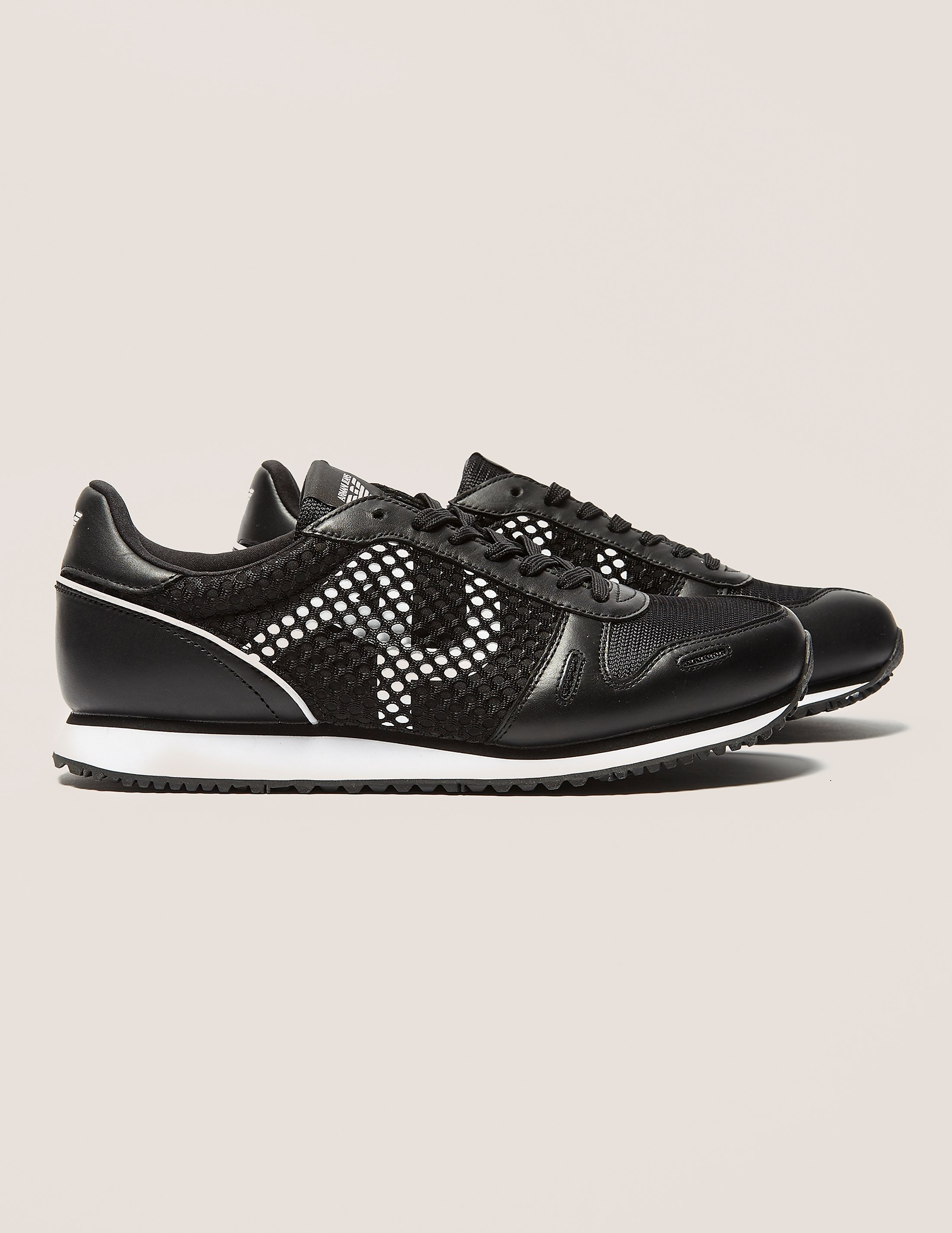 Armani Jeans Mesh Panel Trainers