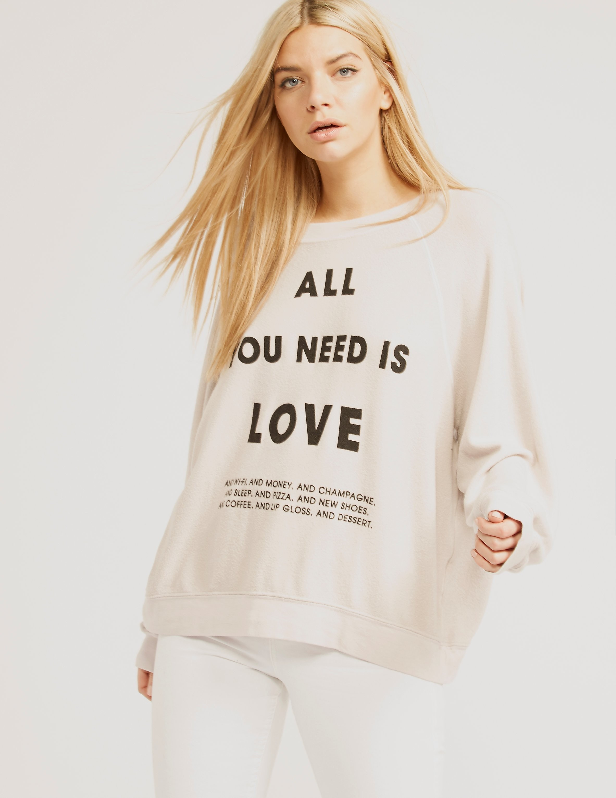 Wildfox LIST OF DEMANDS SWEATSHIRT
