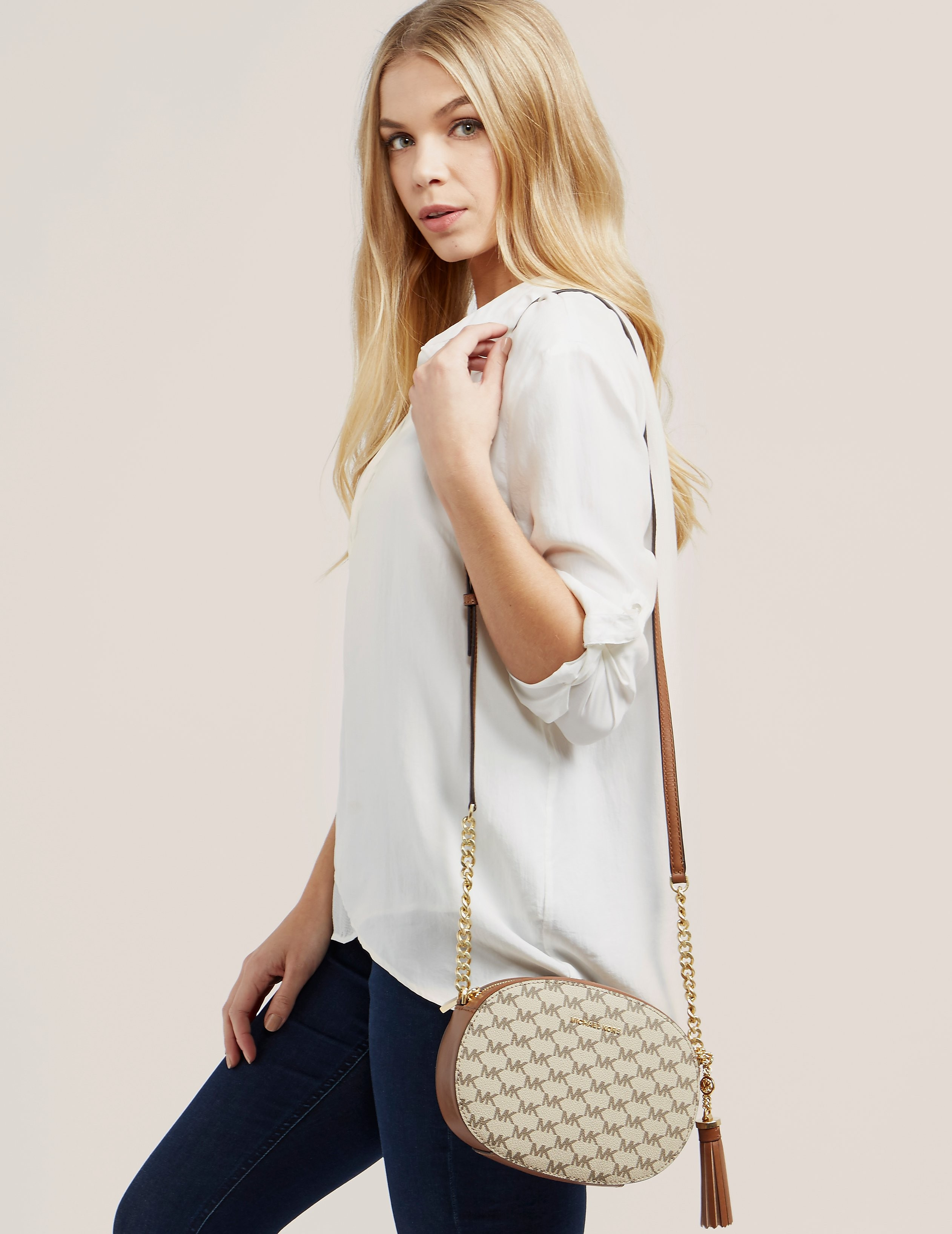 Michael Kors Ginny Medium Logo Crossbody Bag