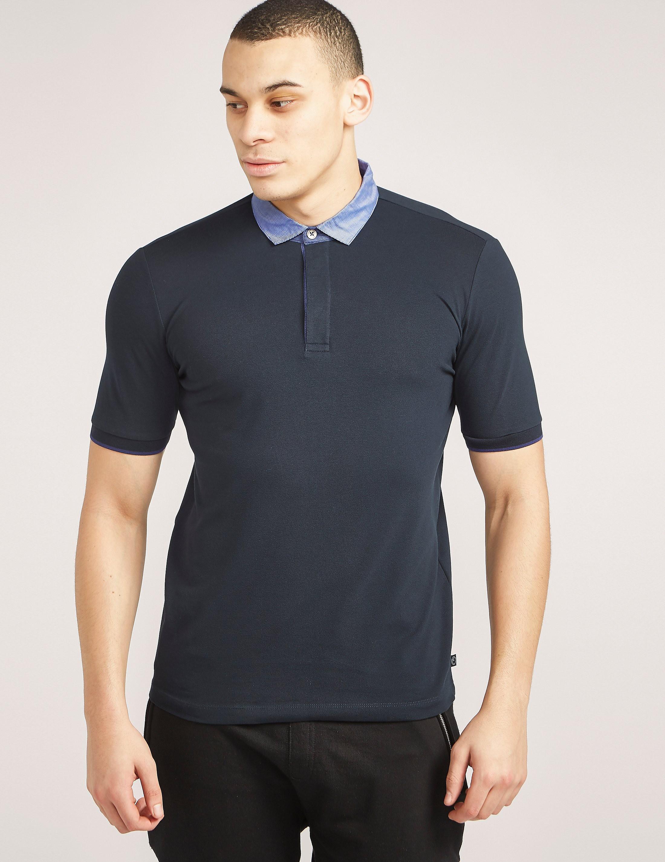 Armani Collezioni Contrast Collar Polo Shirt