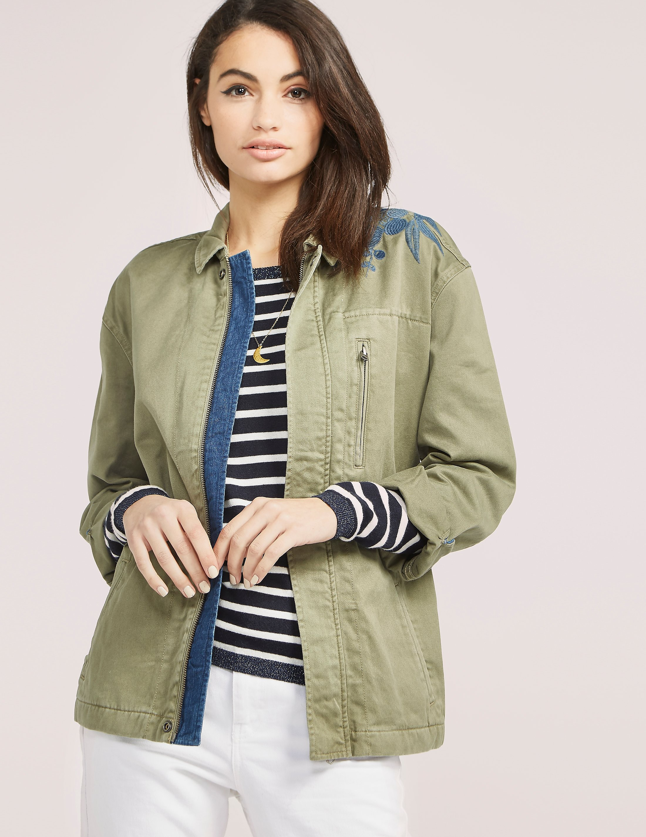 Maison Scotch Embroidered Army Jacket
