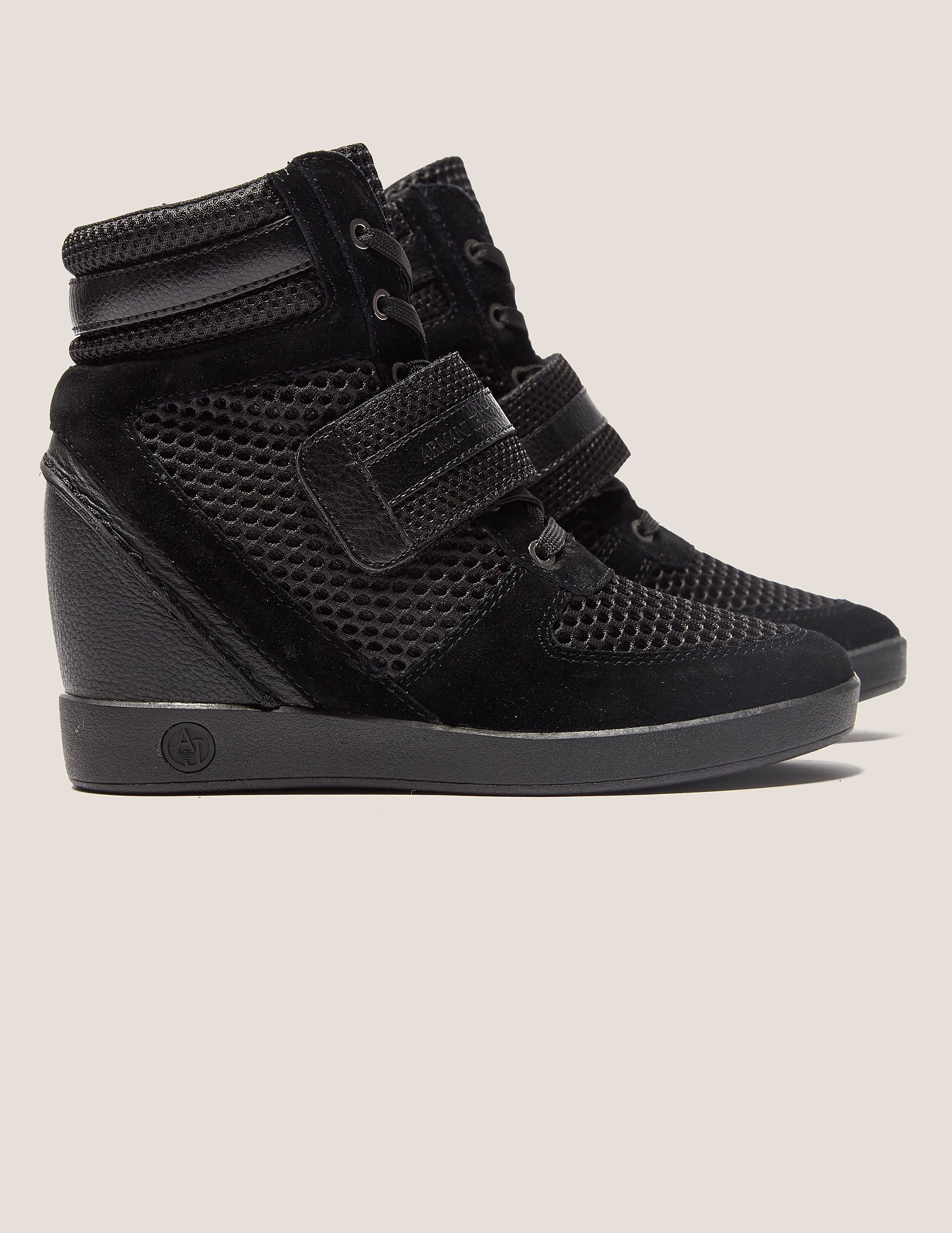 Armani Jeans High Top Wedge Sneakers