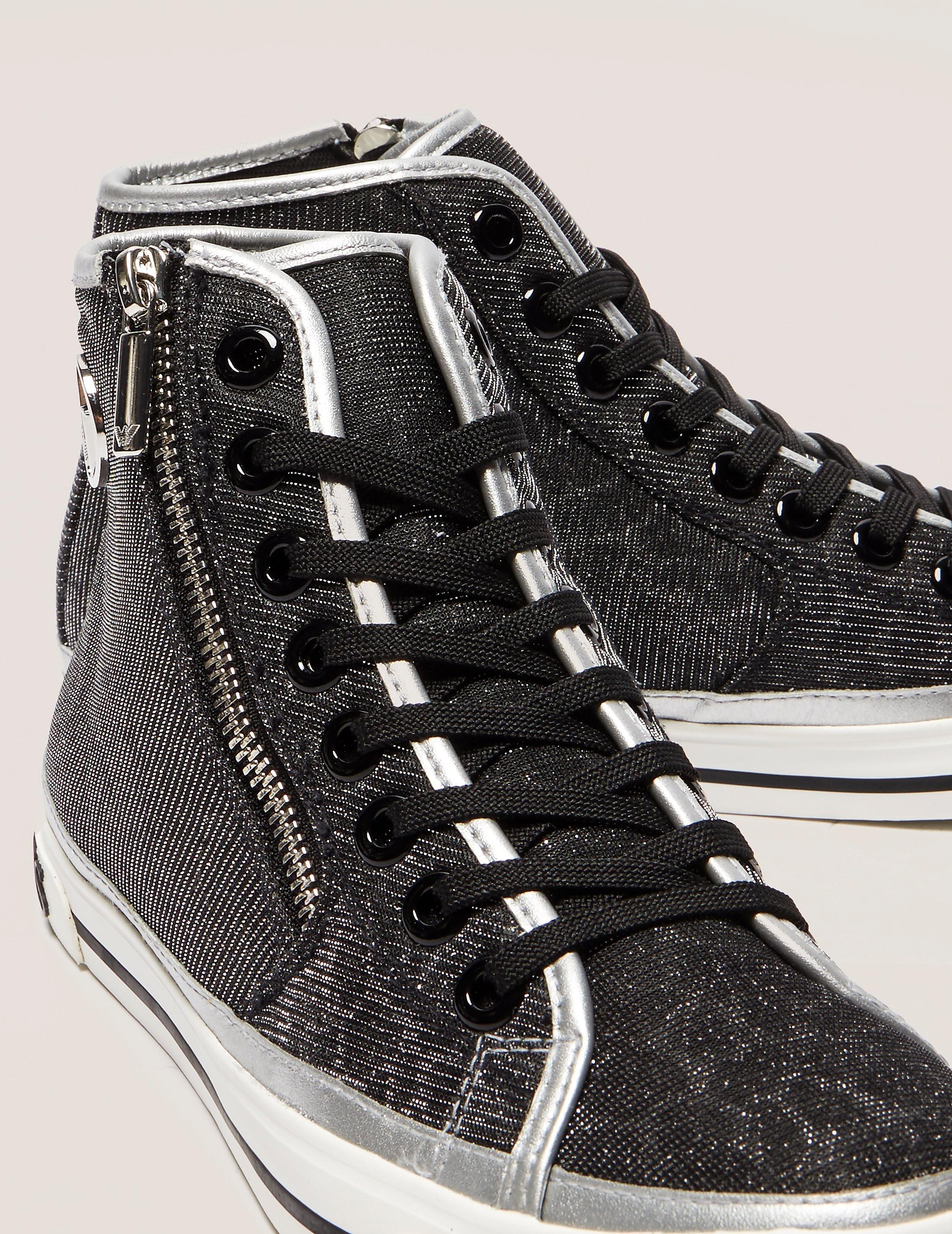 Armani Jeans Glitter High Tops