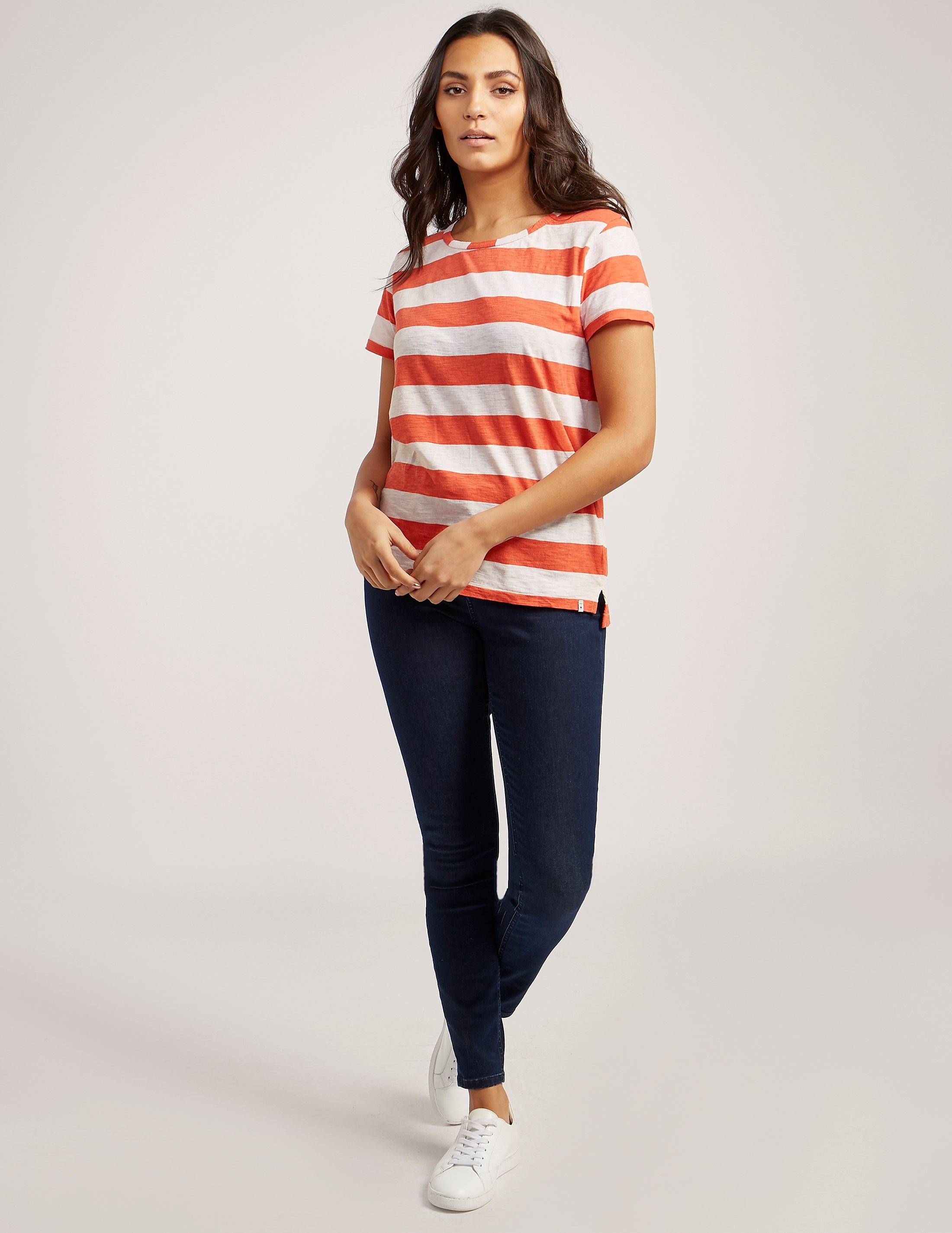 Maison Scotch Coral Stripe t-Shirt