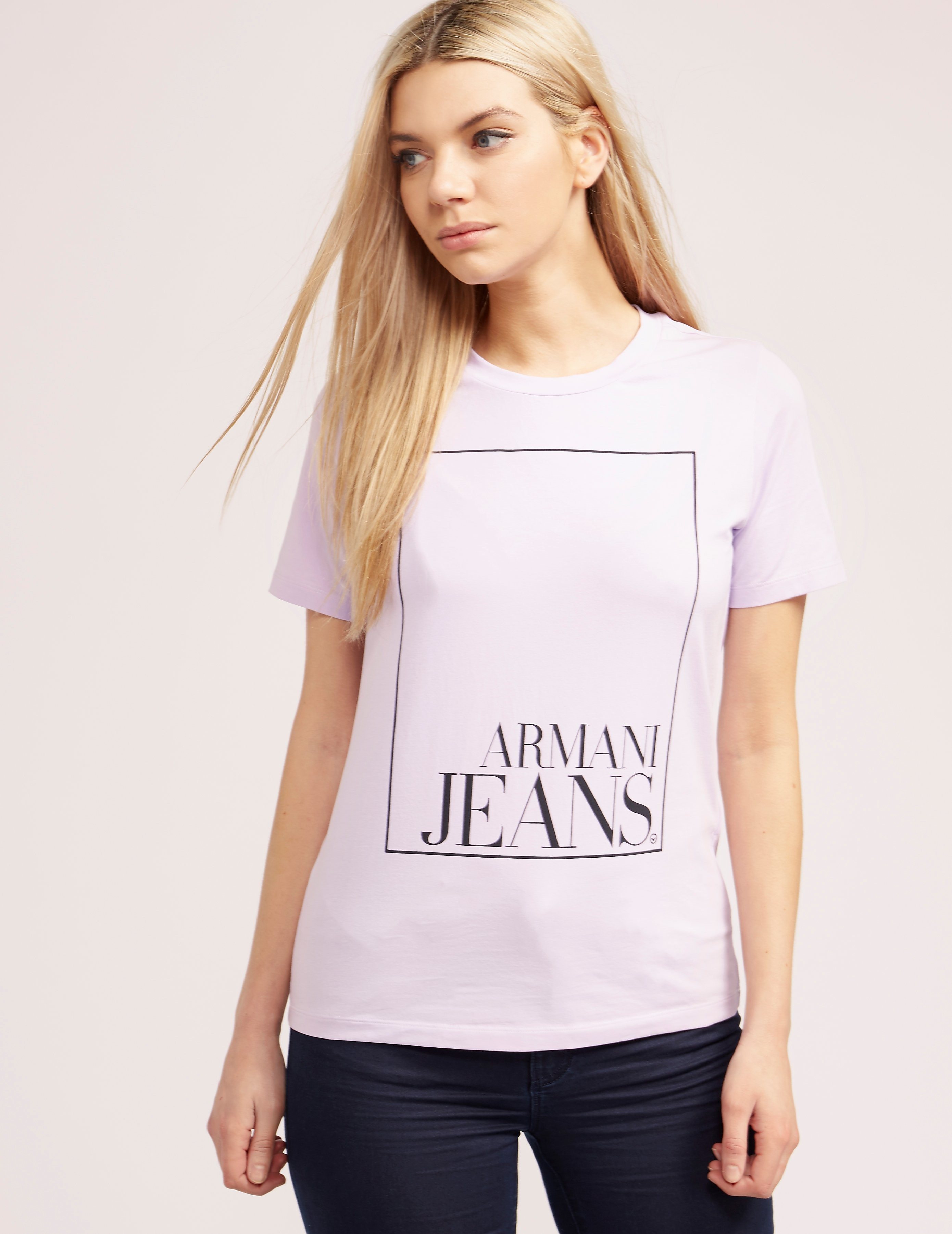 Armani Jeans Sqaure Logo T-Shirt