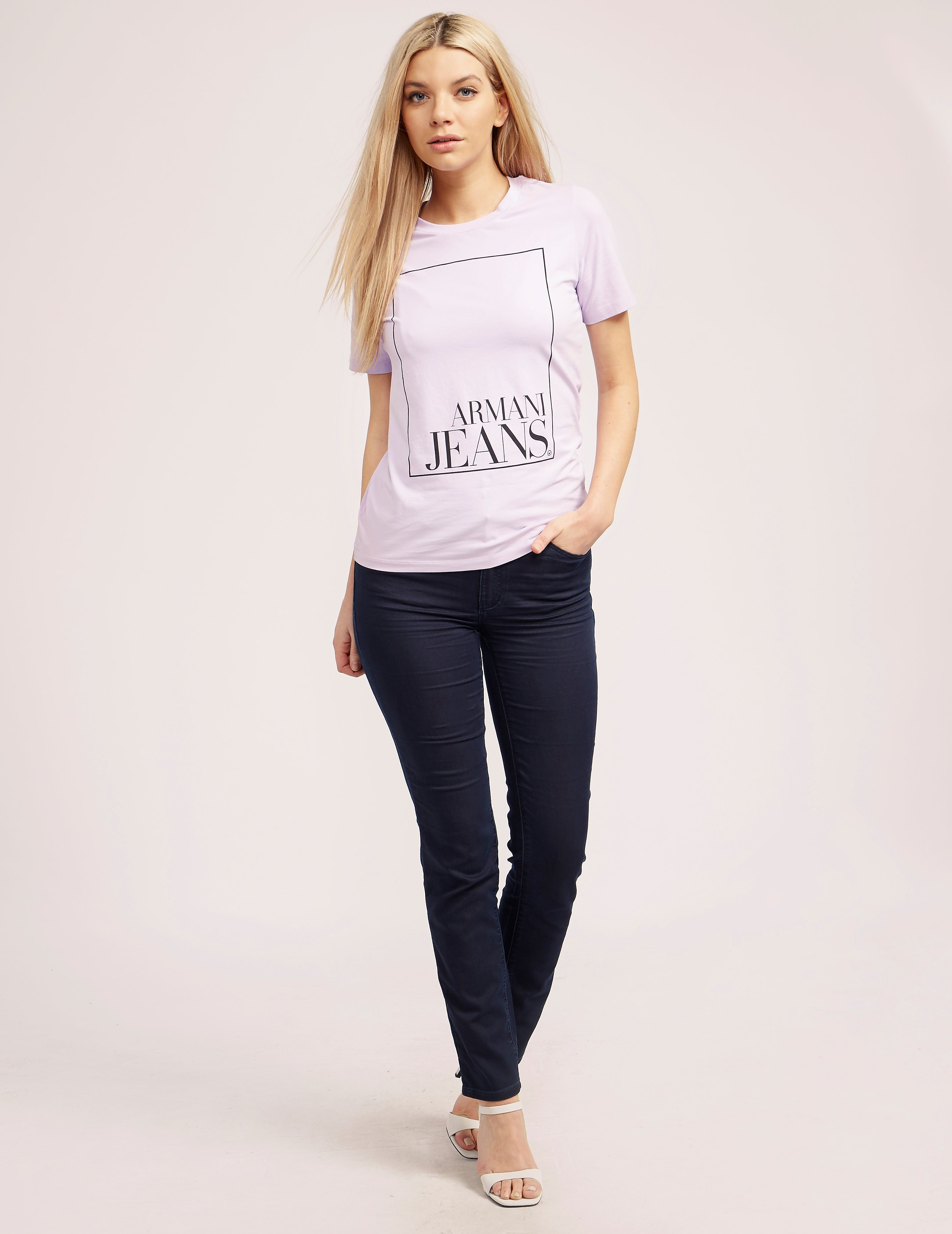 Armani Jeans Sqaure Logo Short Sleeve T-Shirt