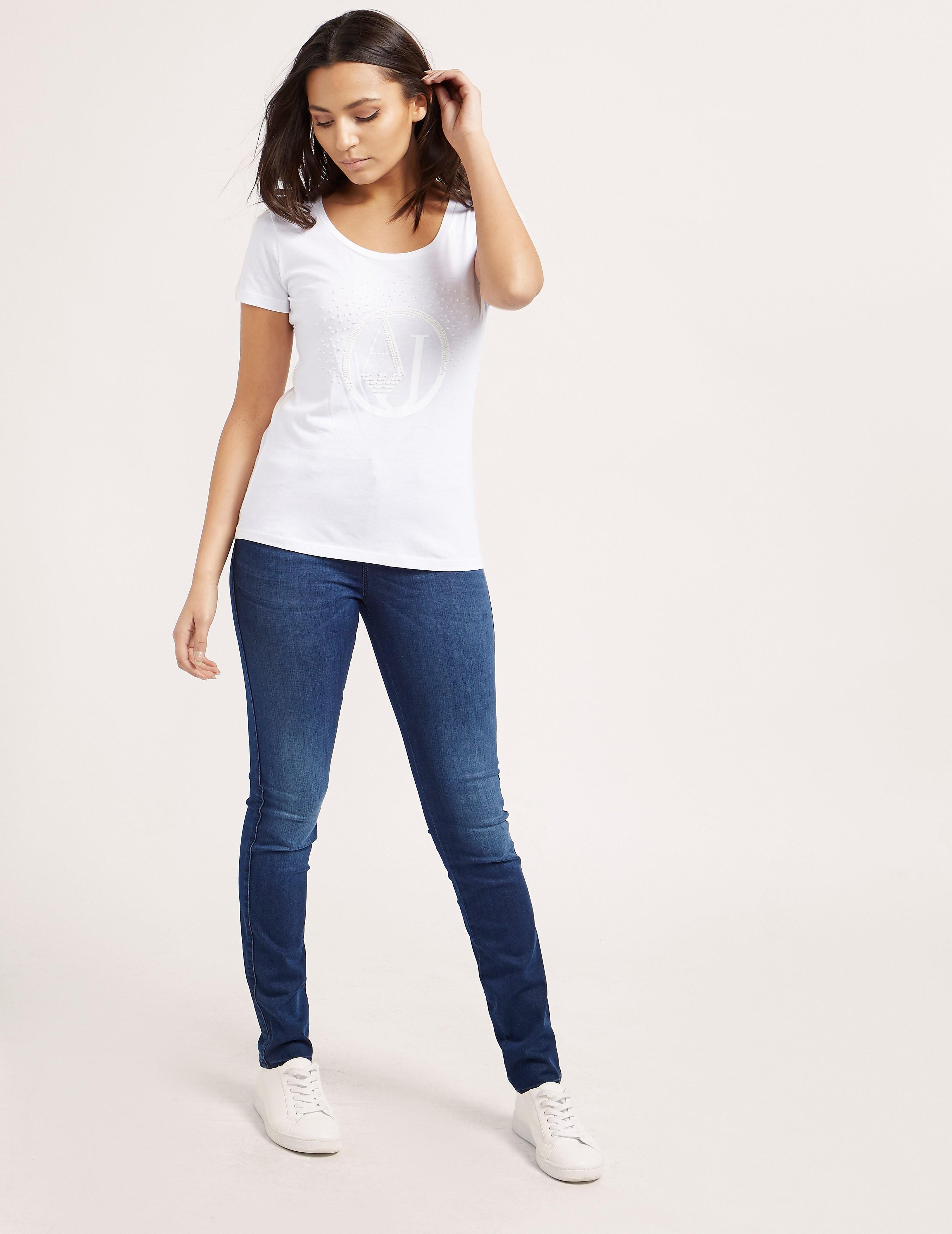 Armani Jeans Beaded Short Sleeve T-Shirt