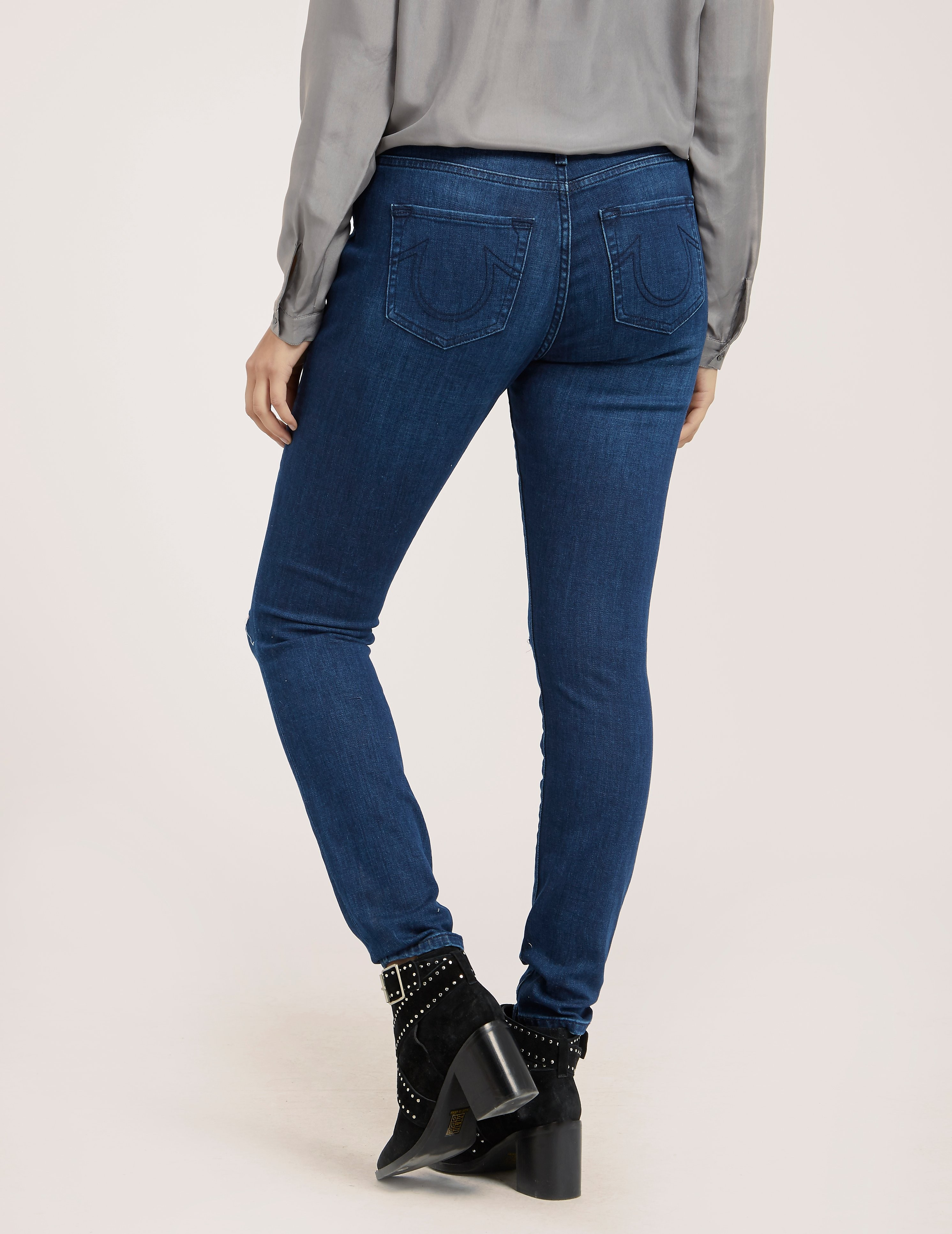 True Religion Halle Slit Knee Jean