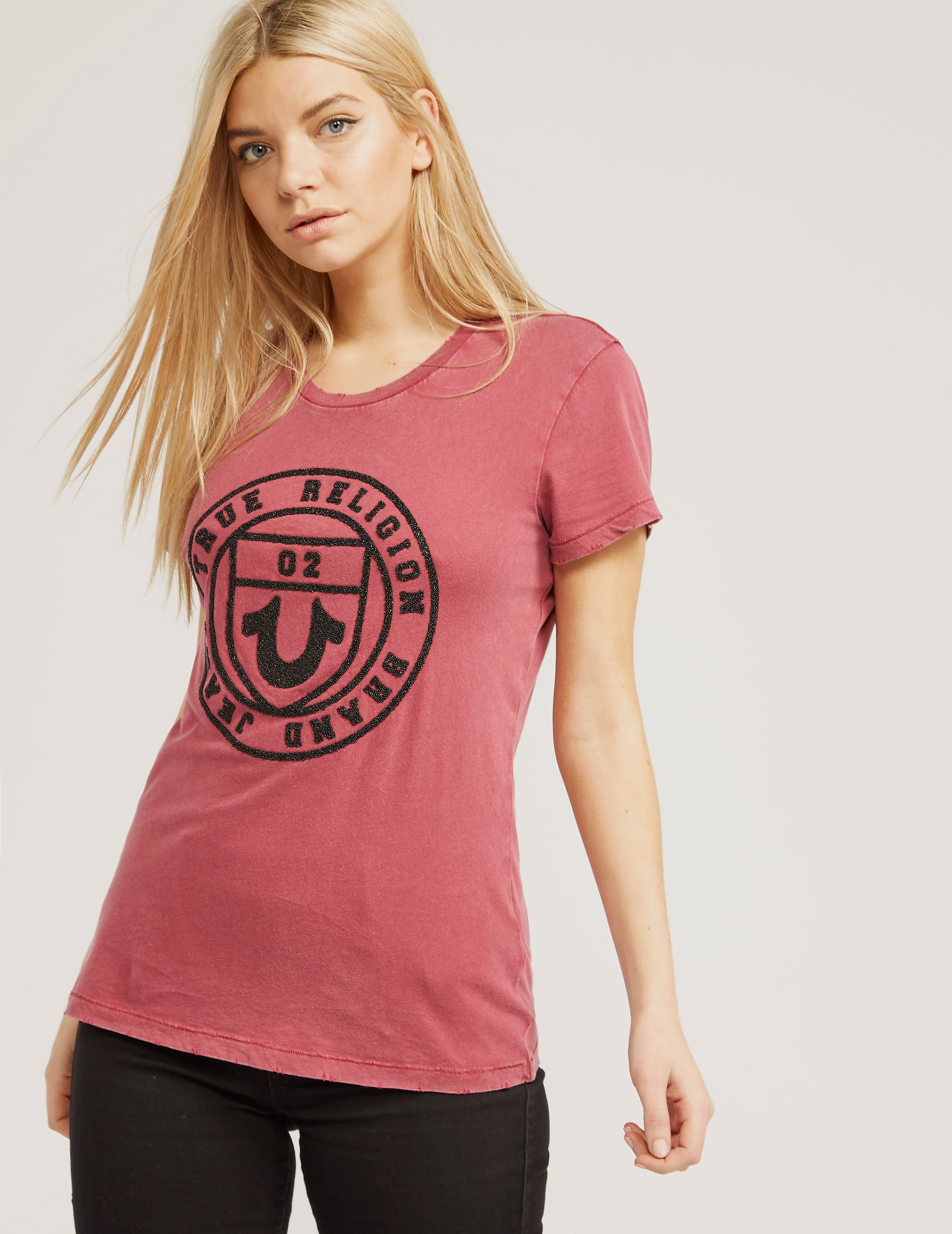 True Religion Caviar Bead Short Sleeve T-Shirt