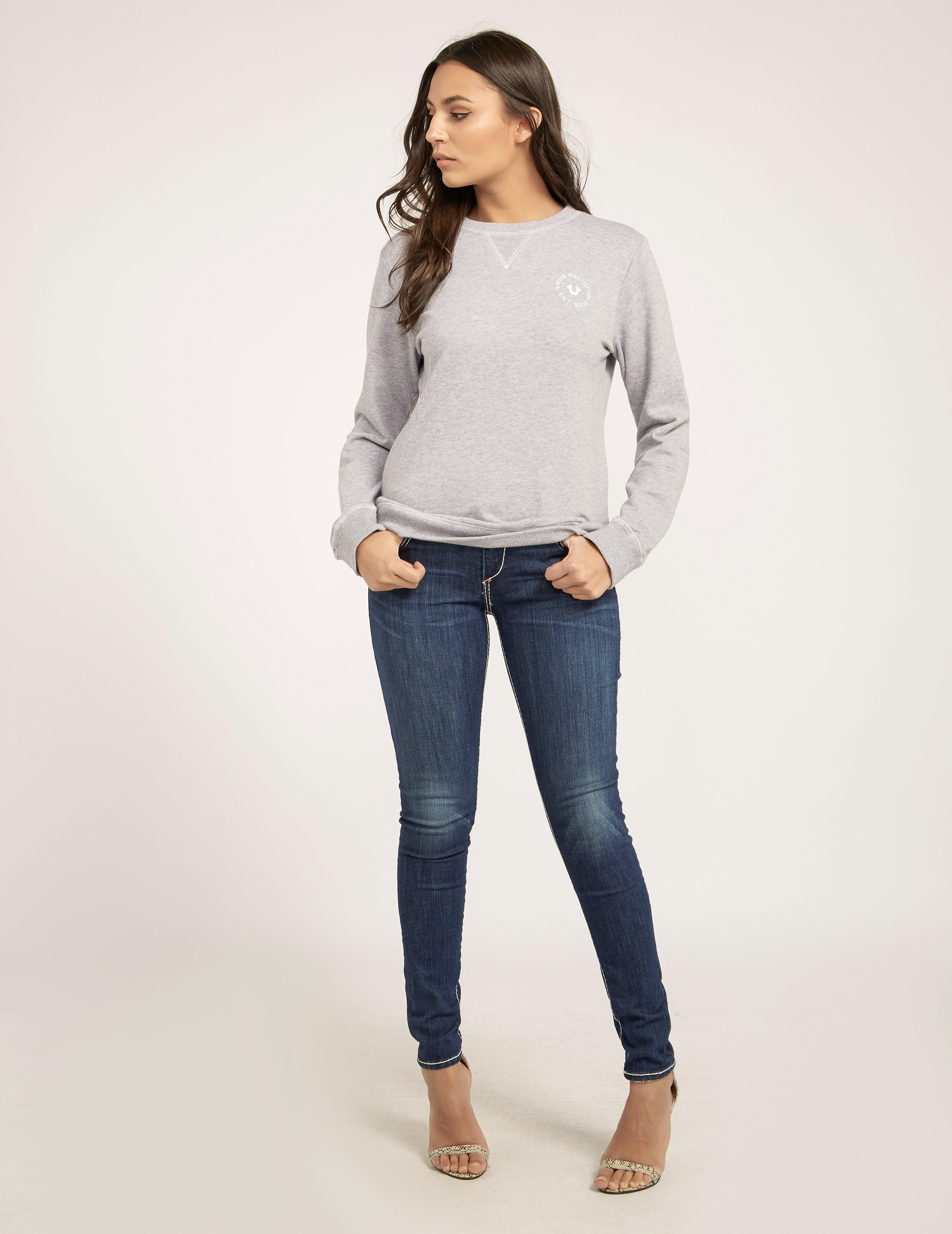 True Religion Casey Super Skinny Mid Rise Jean