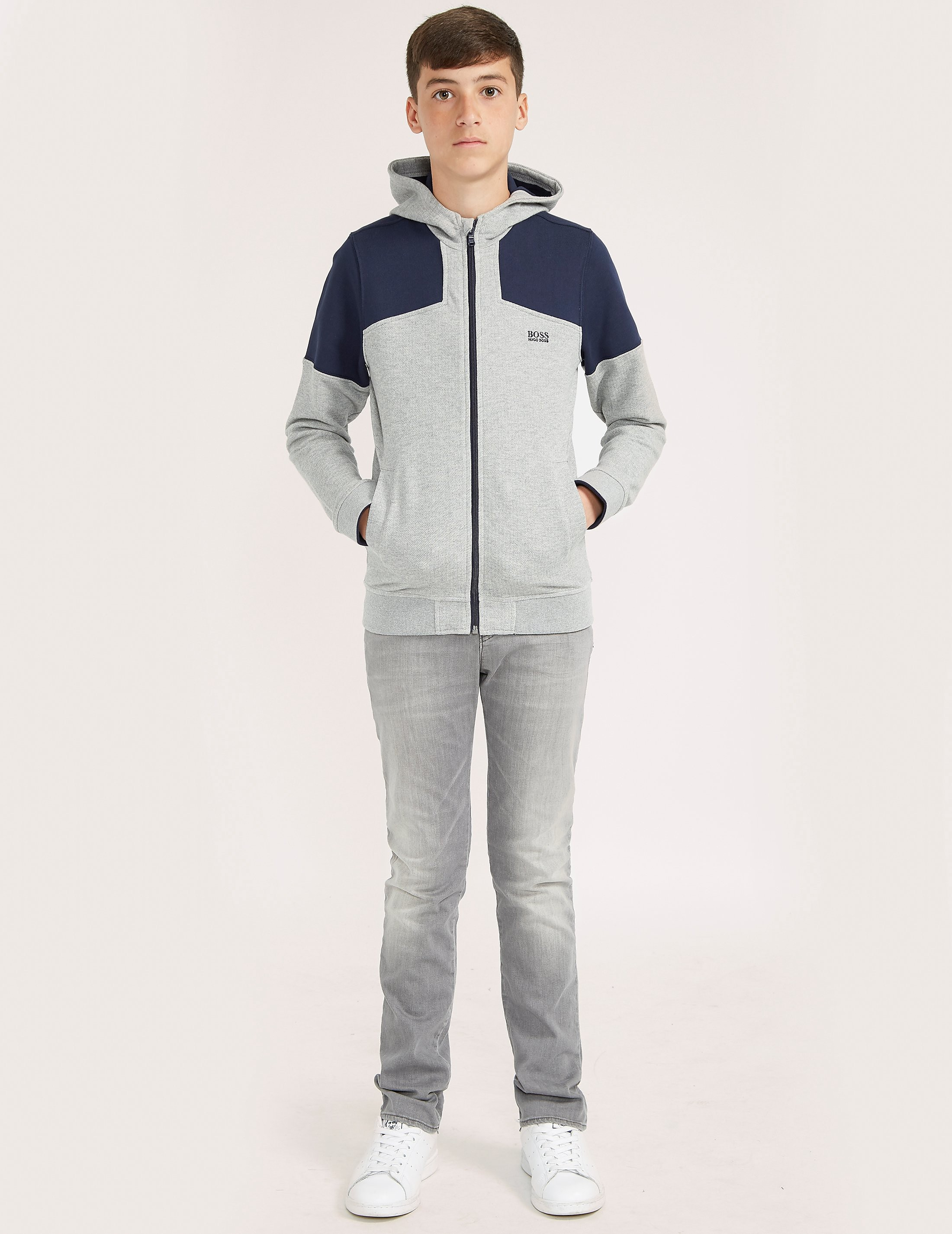 BOSS Full Zip Panel Hoody