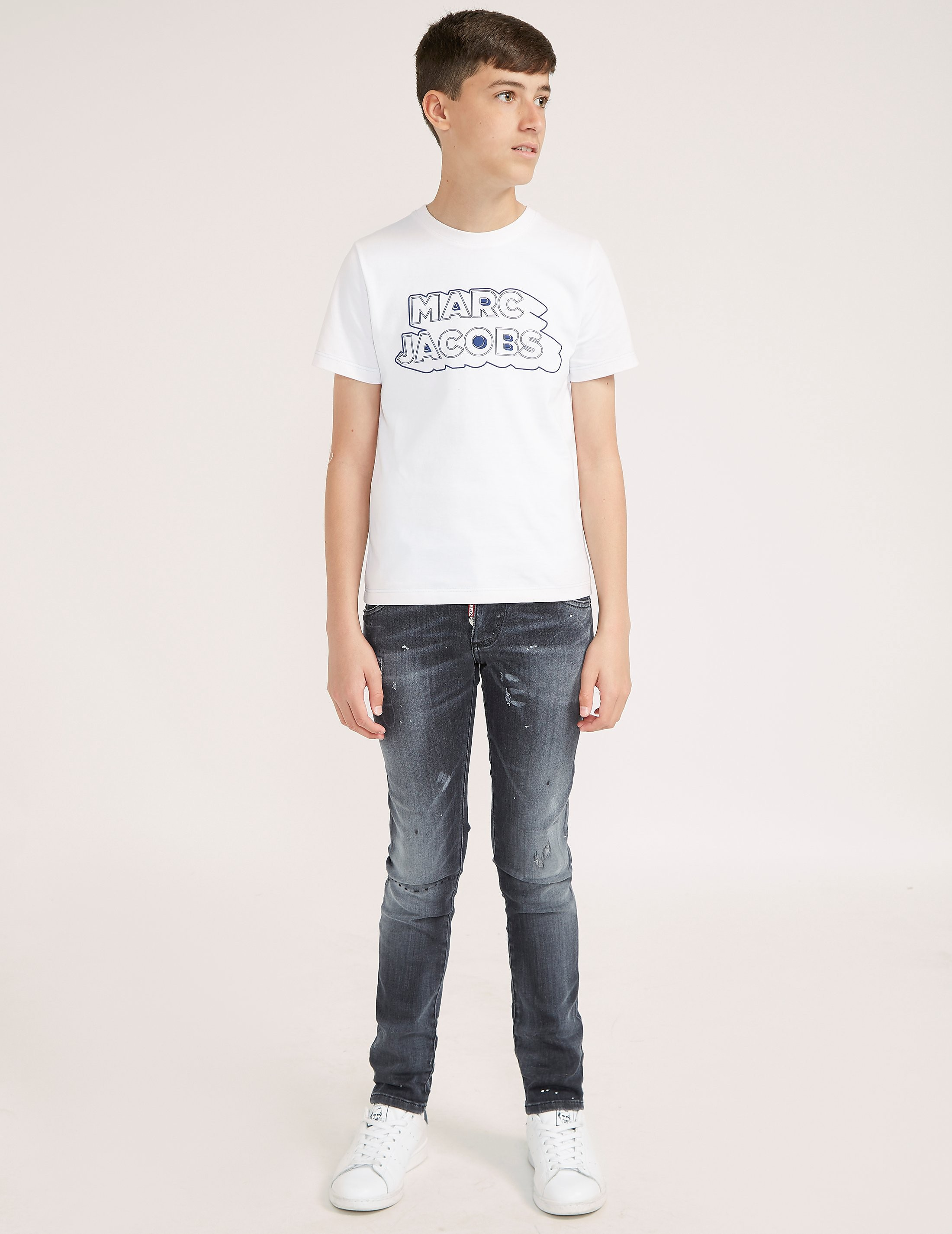 Little Marc Jacobs Logo Short Sleeve T-Shirt