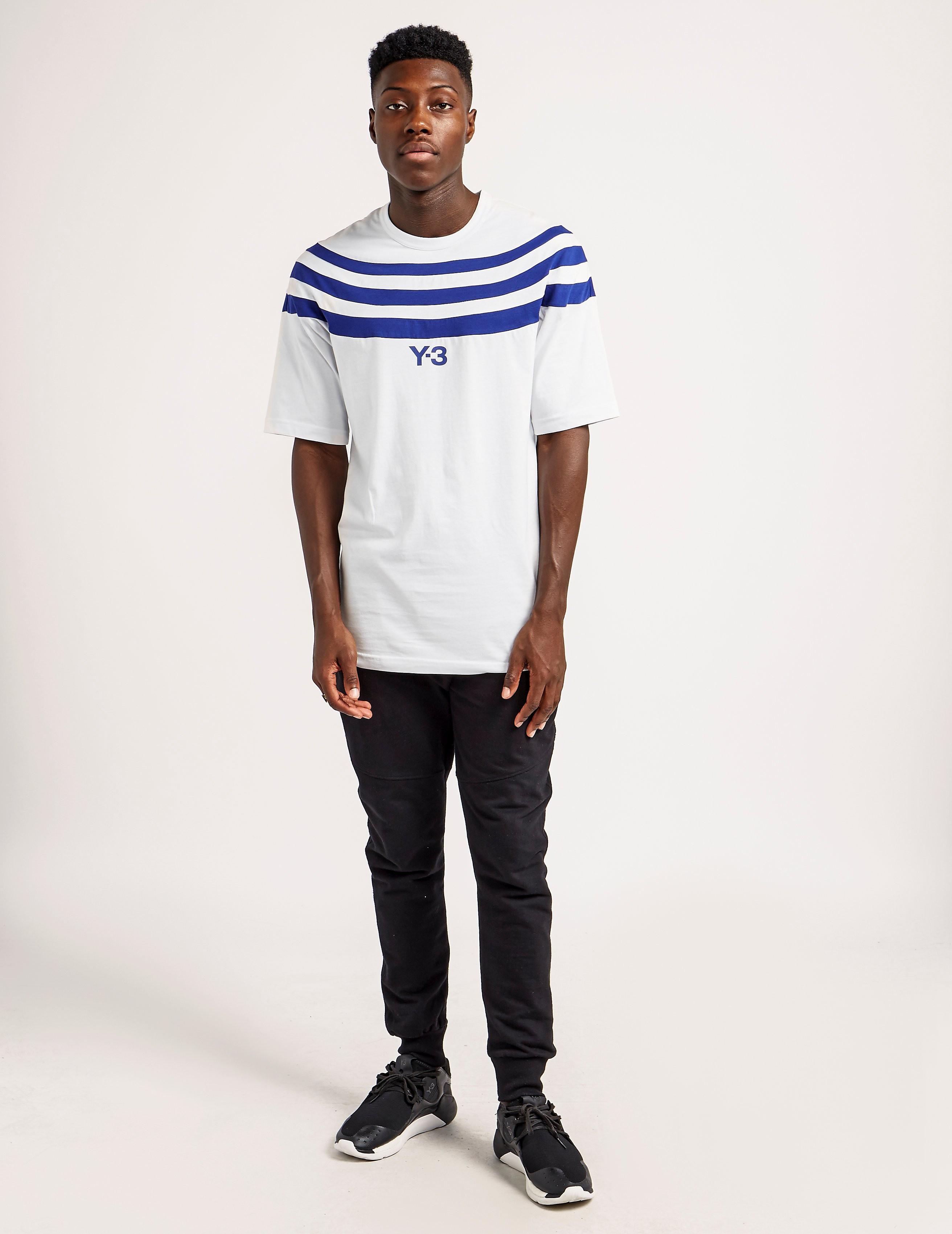 Y-3 Three Stripes Short Sleeve T-Shirt