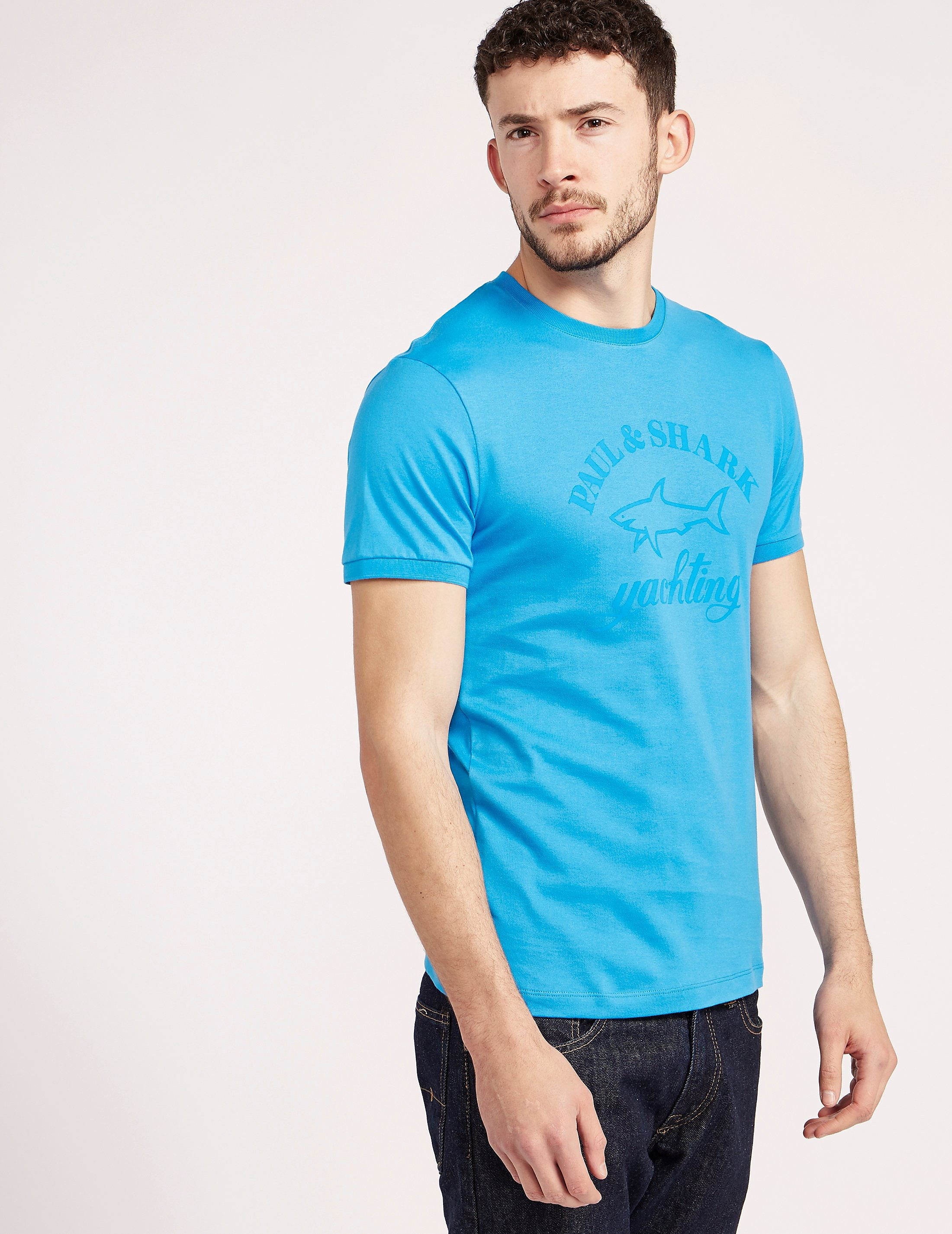 Paul and Shark Tonal Print Short Sleeve T-Shirt