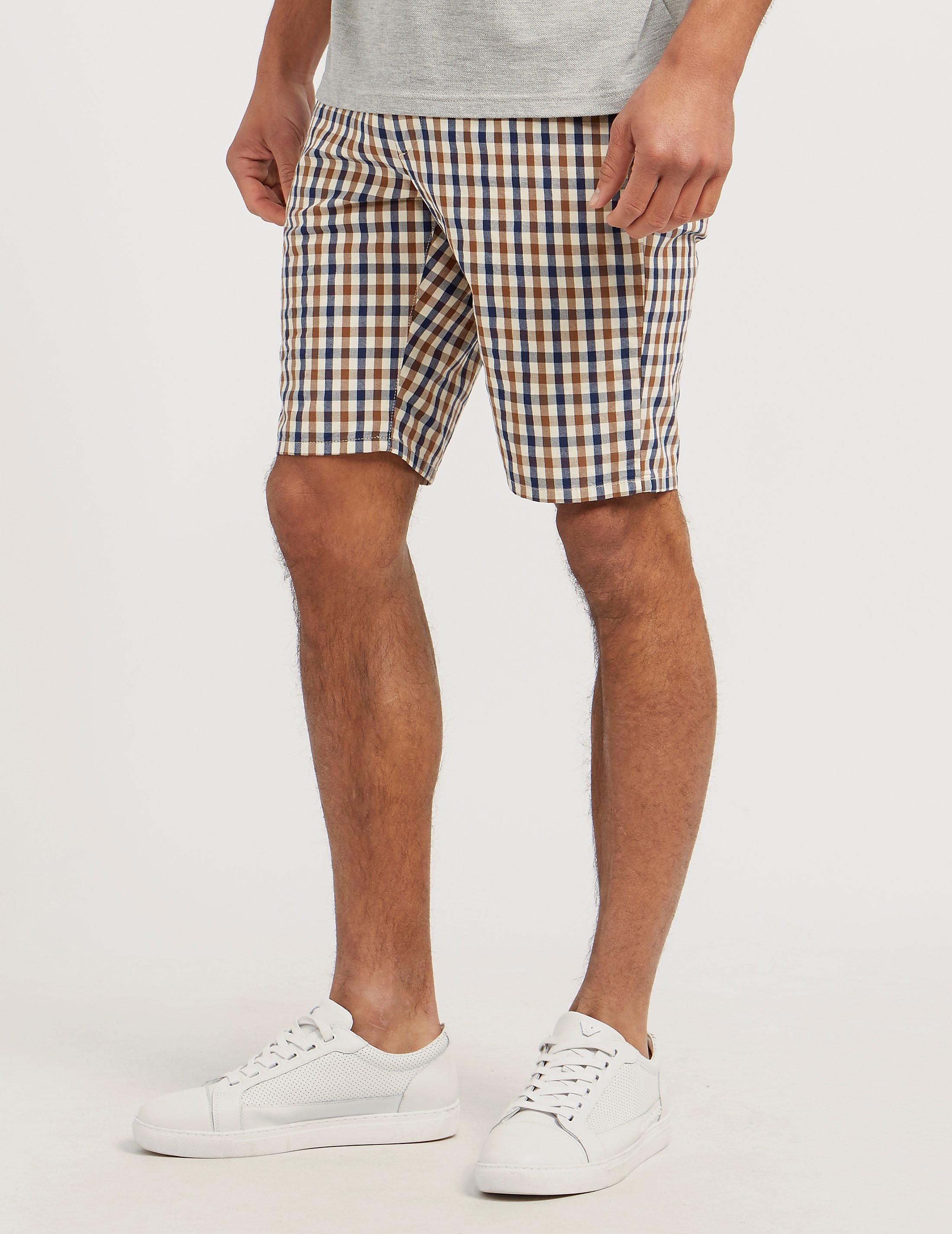 Aquascutum Club Check Shorts