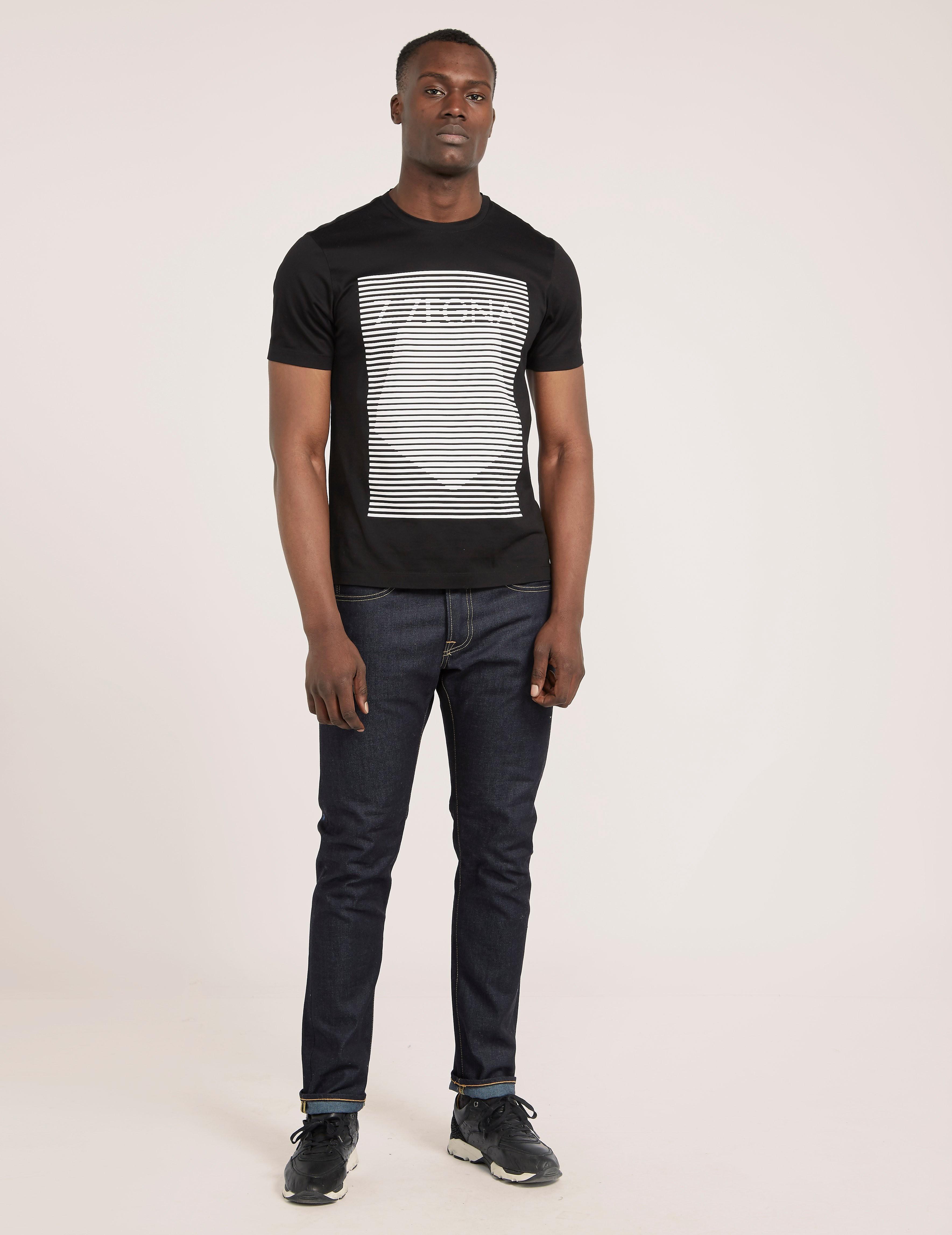 Z Zegna Stripe Logo T-Shirt