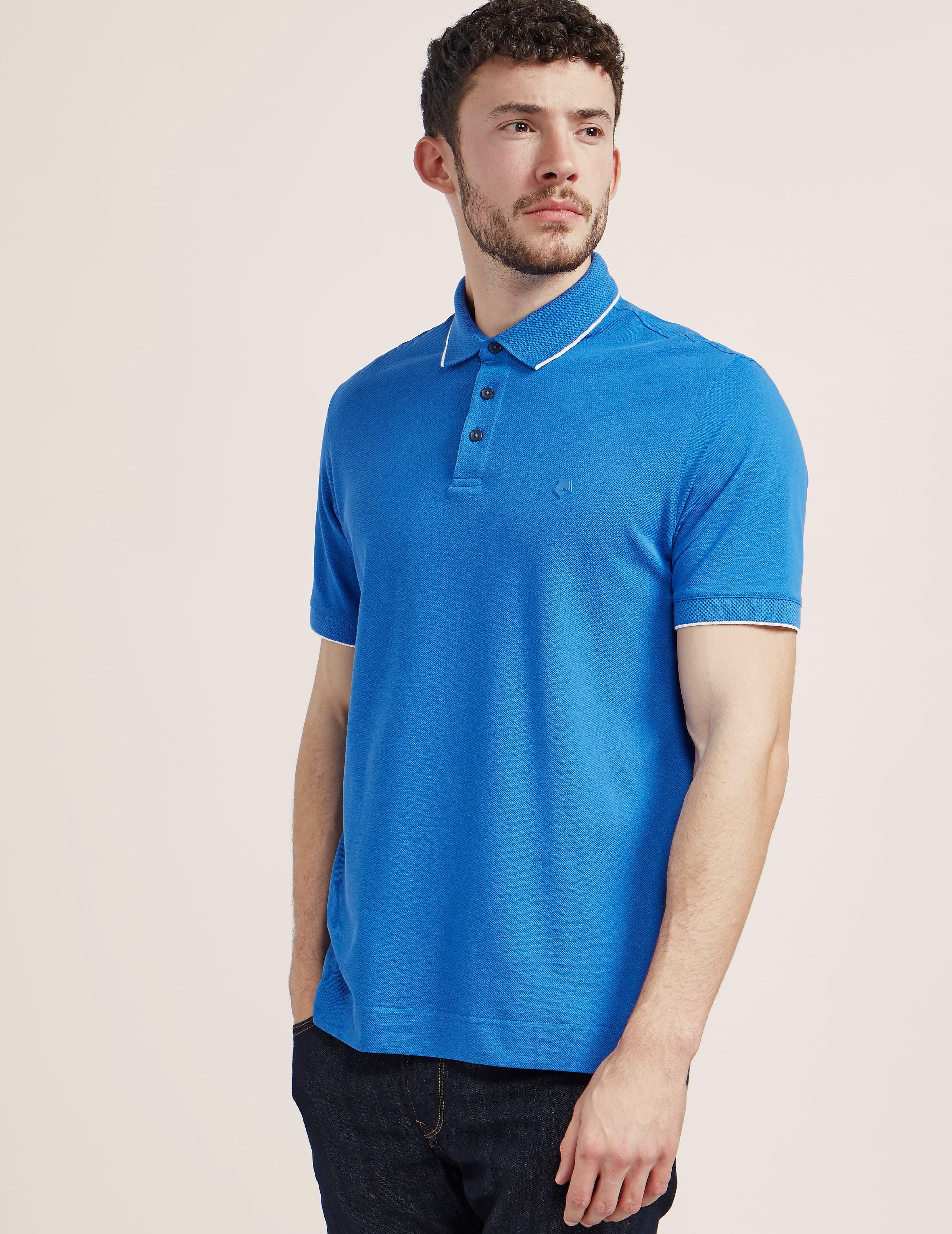 Z Zegna Pique Polo Shirt