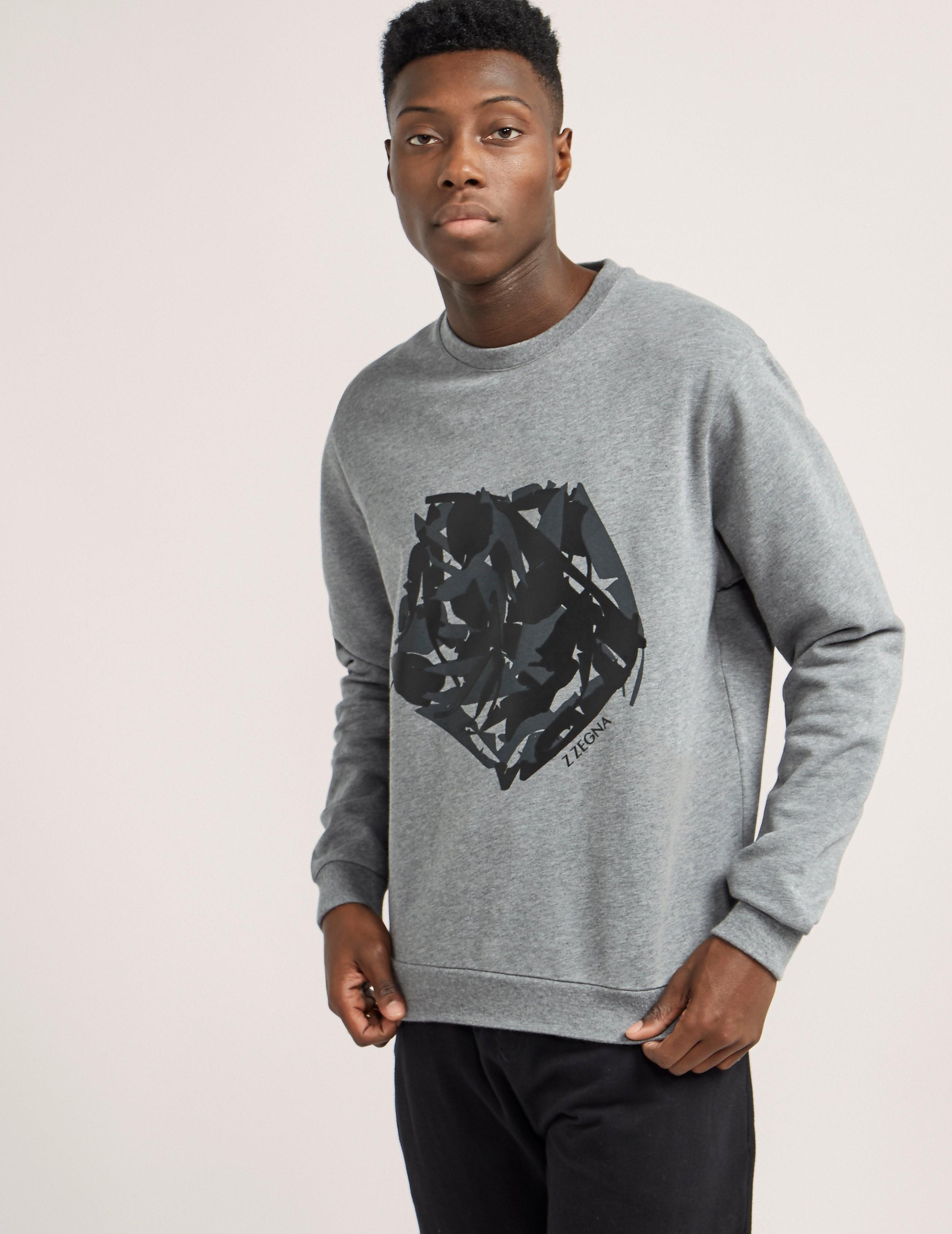 Z Zegna Logo Crew Sweatshirt