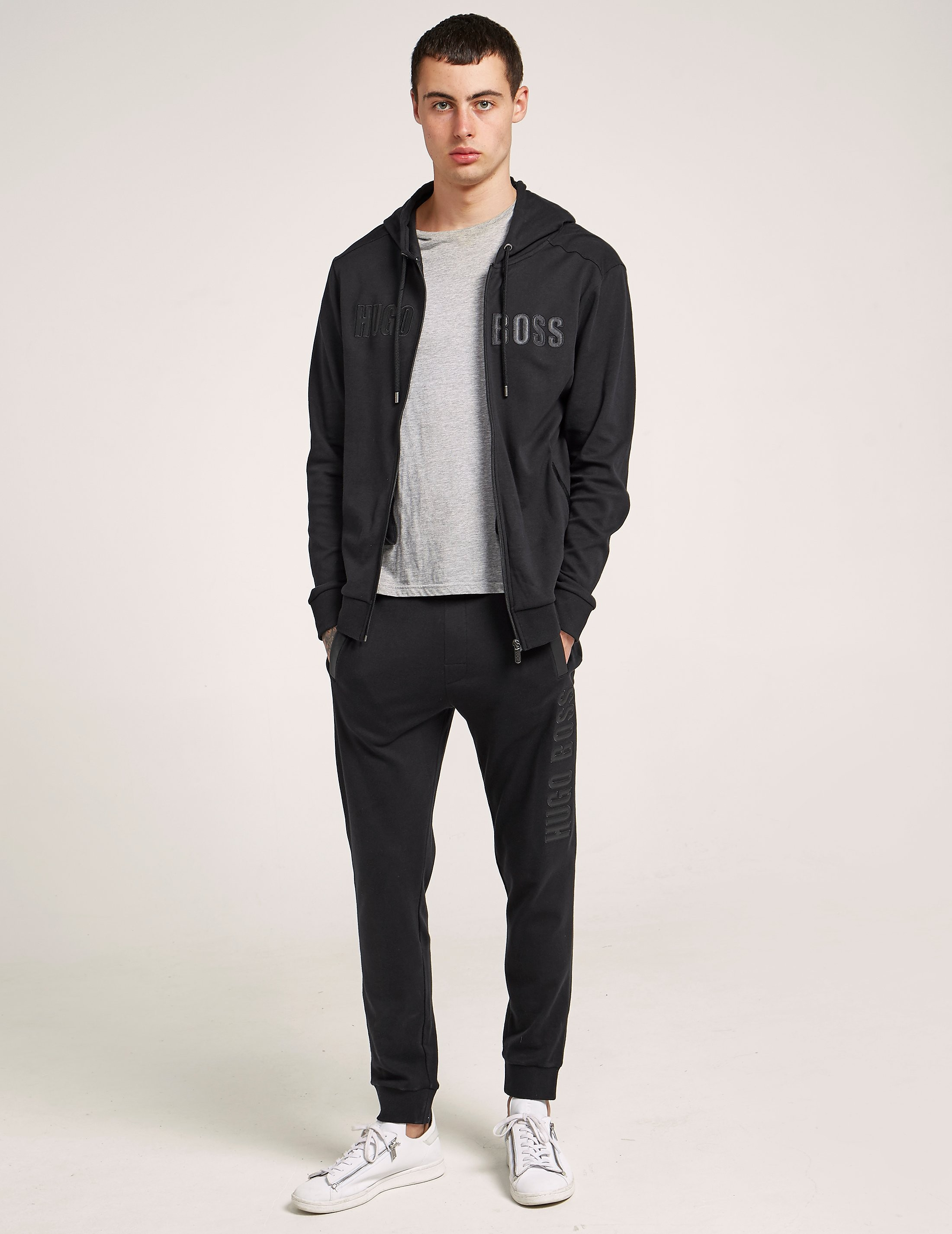 BOSS Leather Effect Cuffed Track Pants