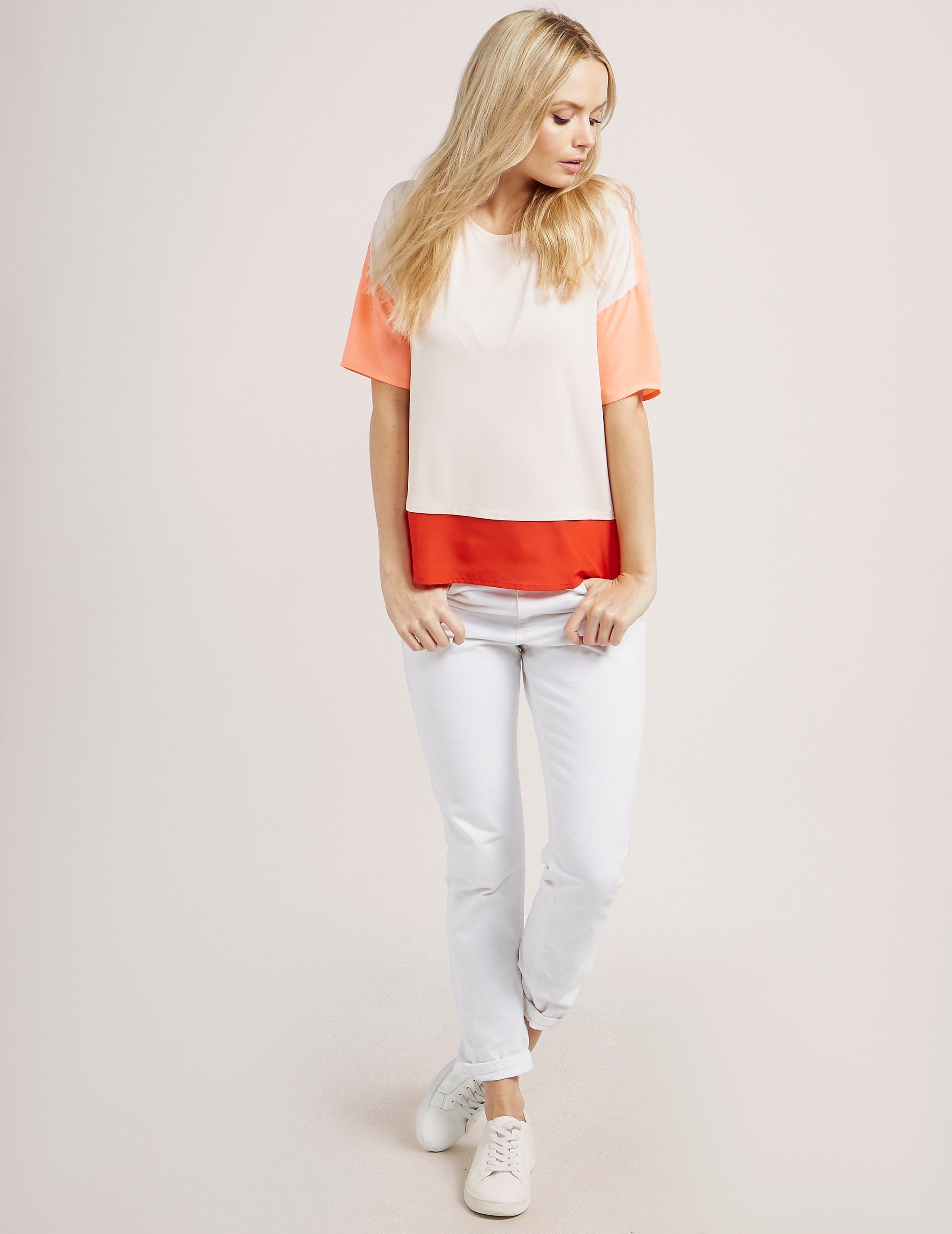 BOSS Orange Tustripe Short Sleeve T-Shirt