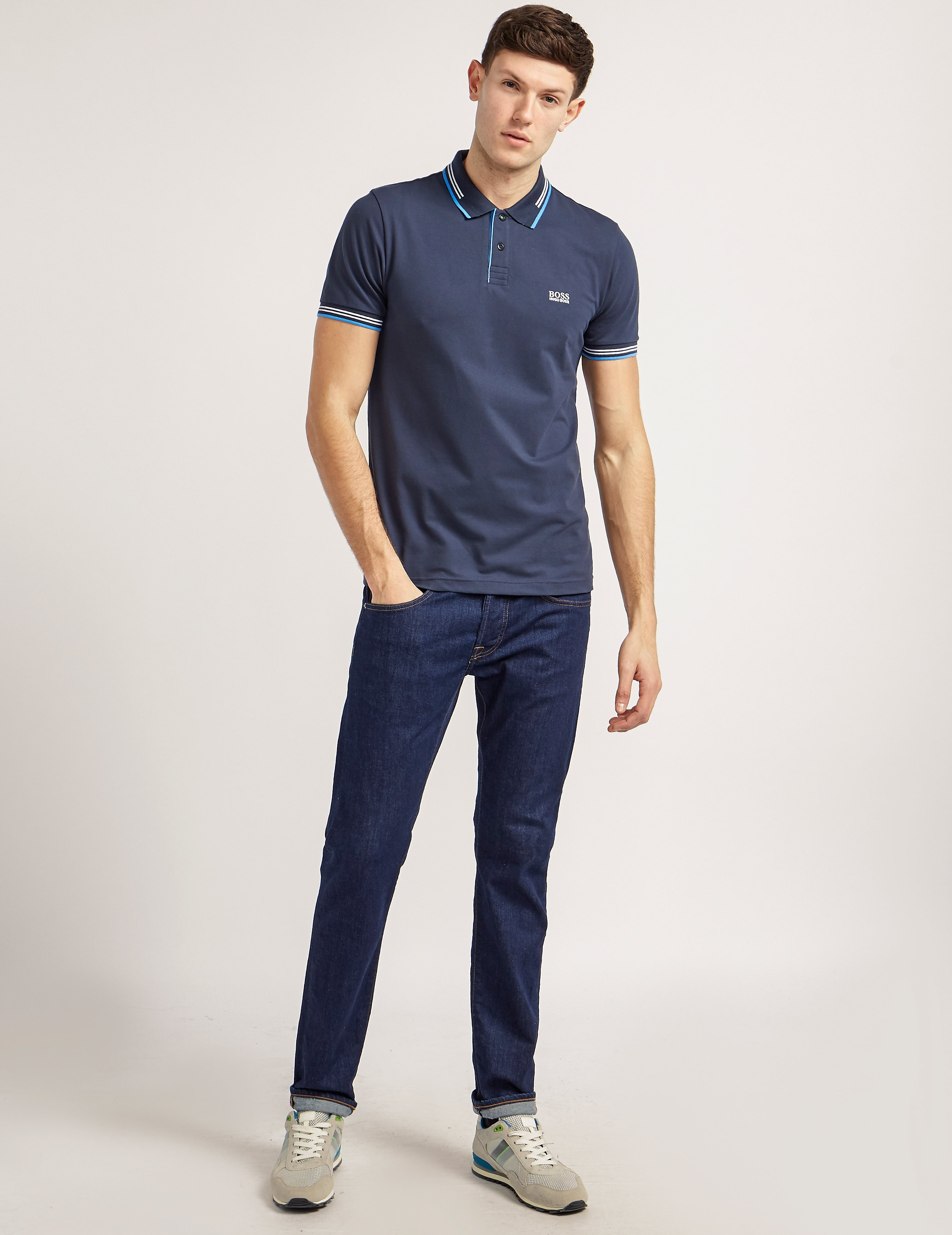 BOSS Green Tipped Polo Shirt