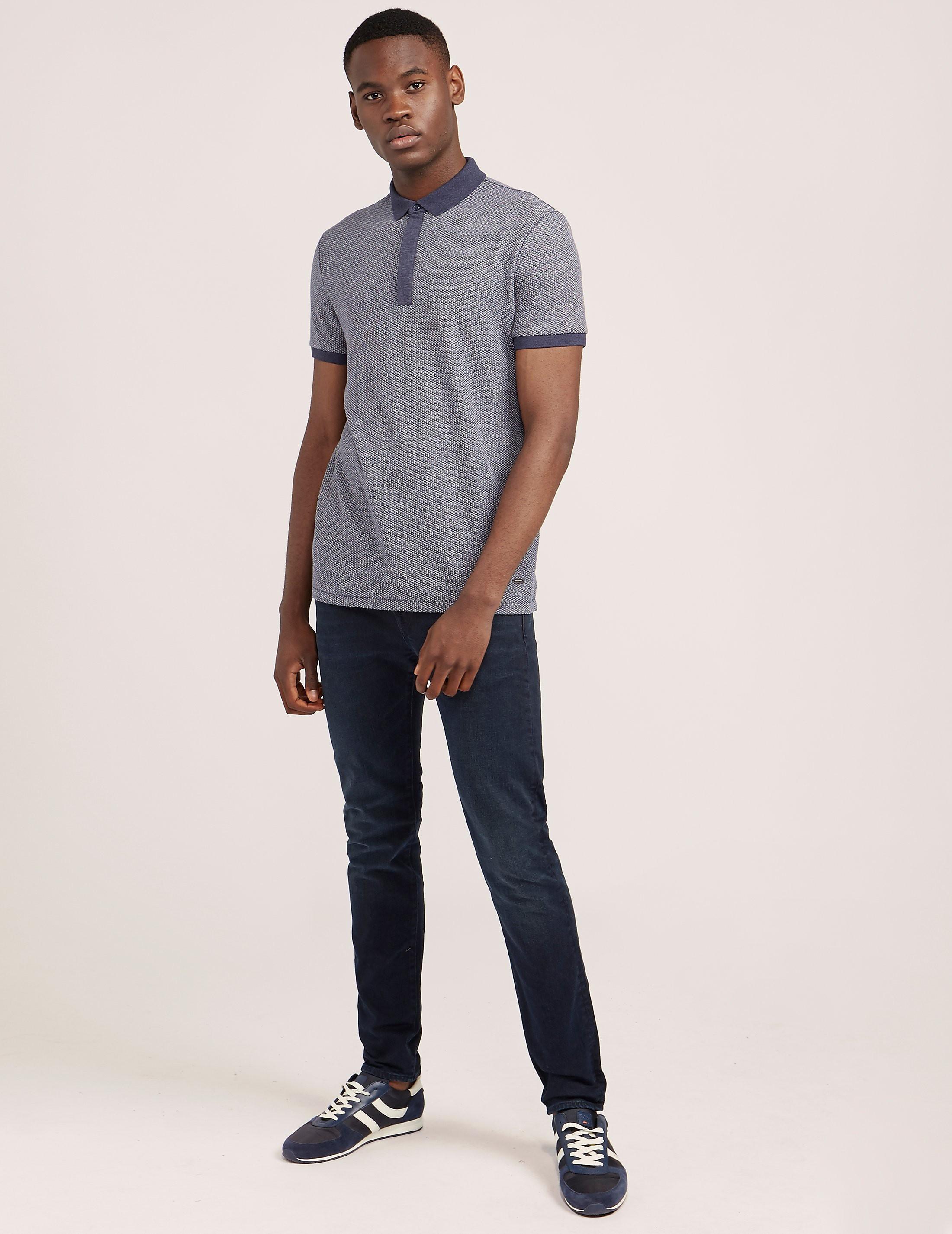 BOSS Orange Persys Short Sleeve Textured Polo Shirt