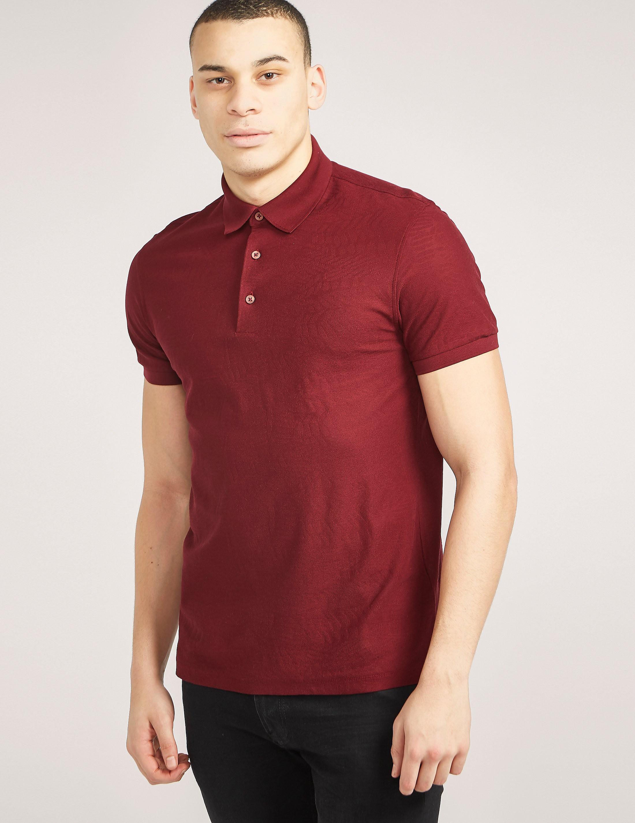 Z Zegna Patterned Polo Shirt