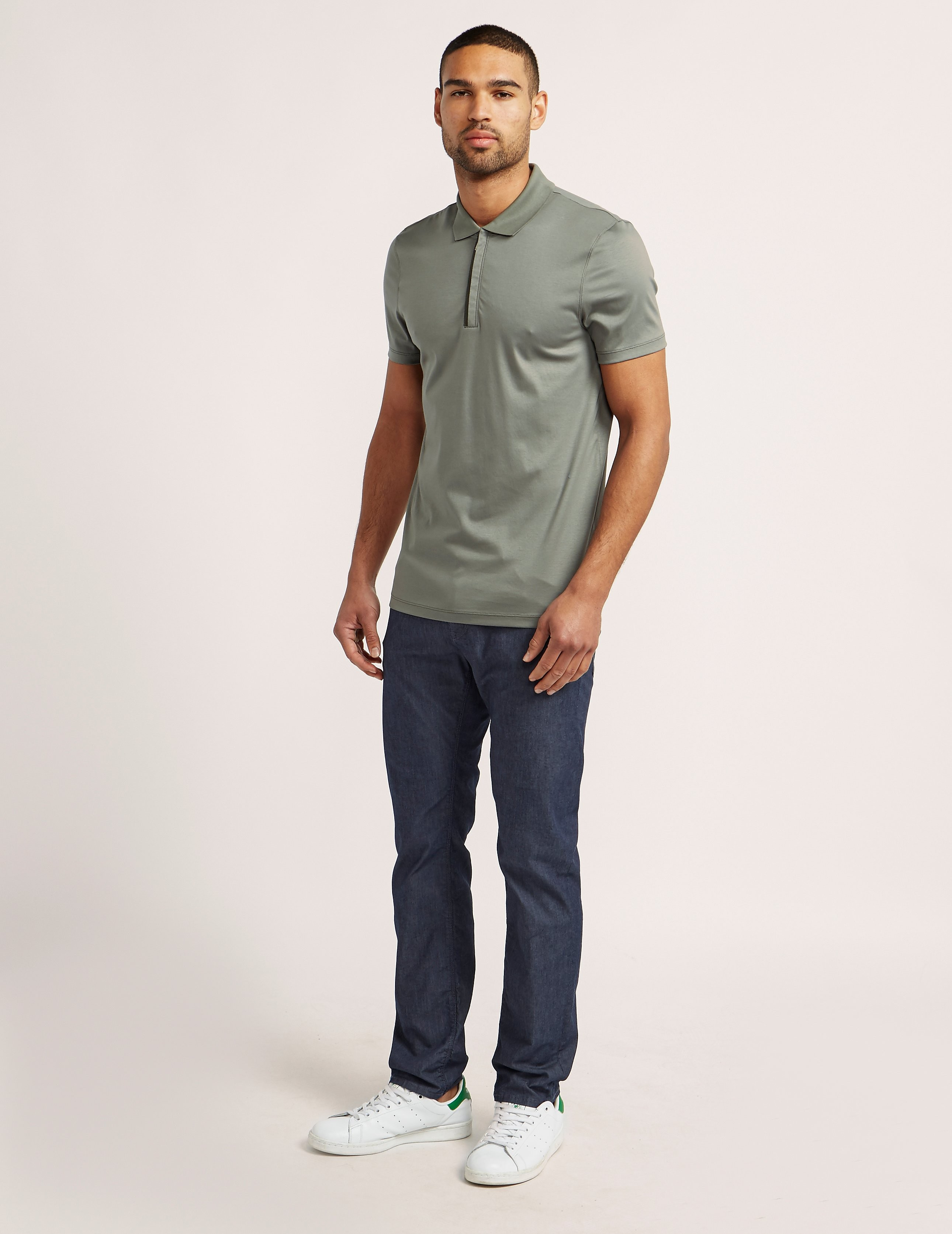 BOSS Short Sleeve Zip Polo Shirt