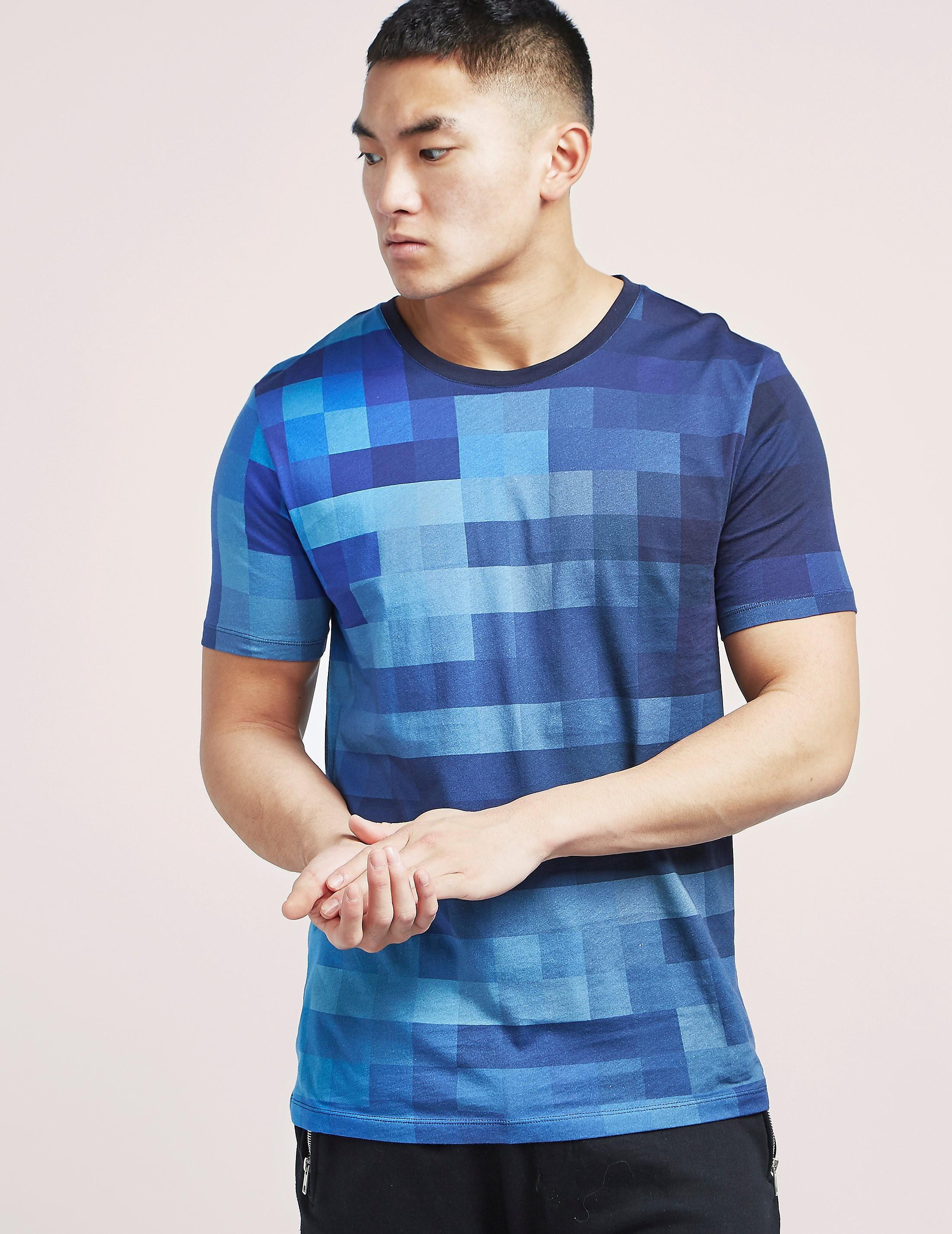HUGO Geometric Print Short Sleeve T-Shirt