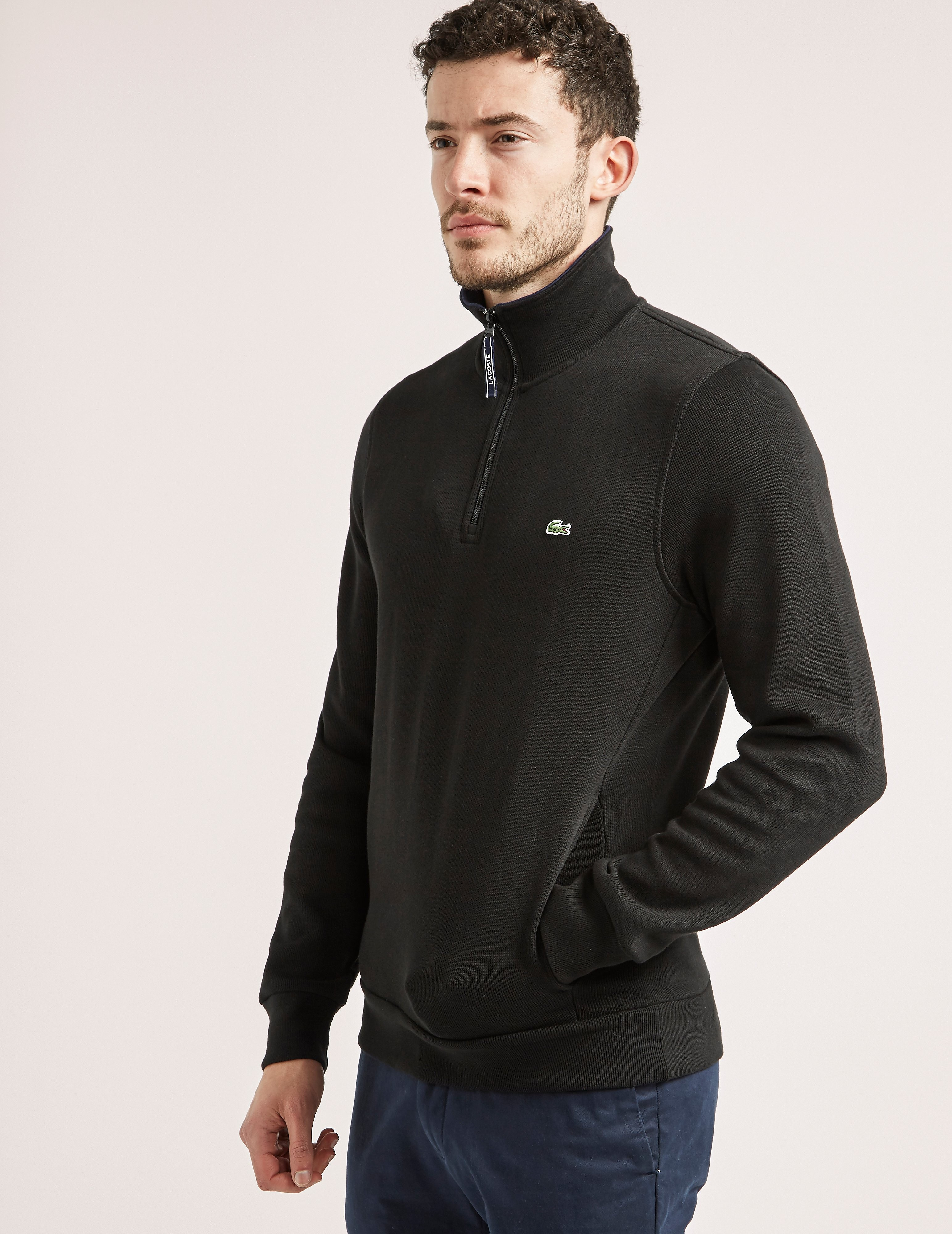 Lacoste 1/2 Zip Interlock Sweatshirt