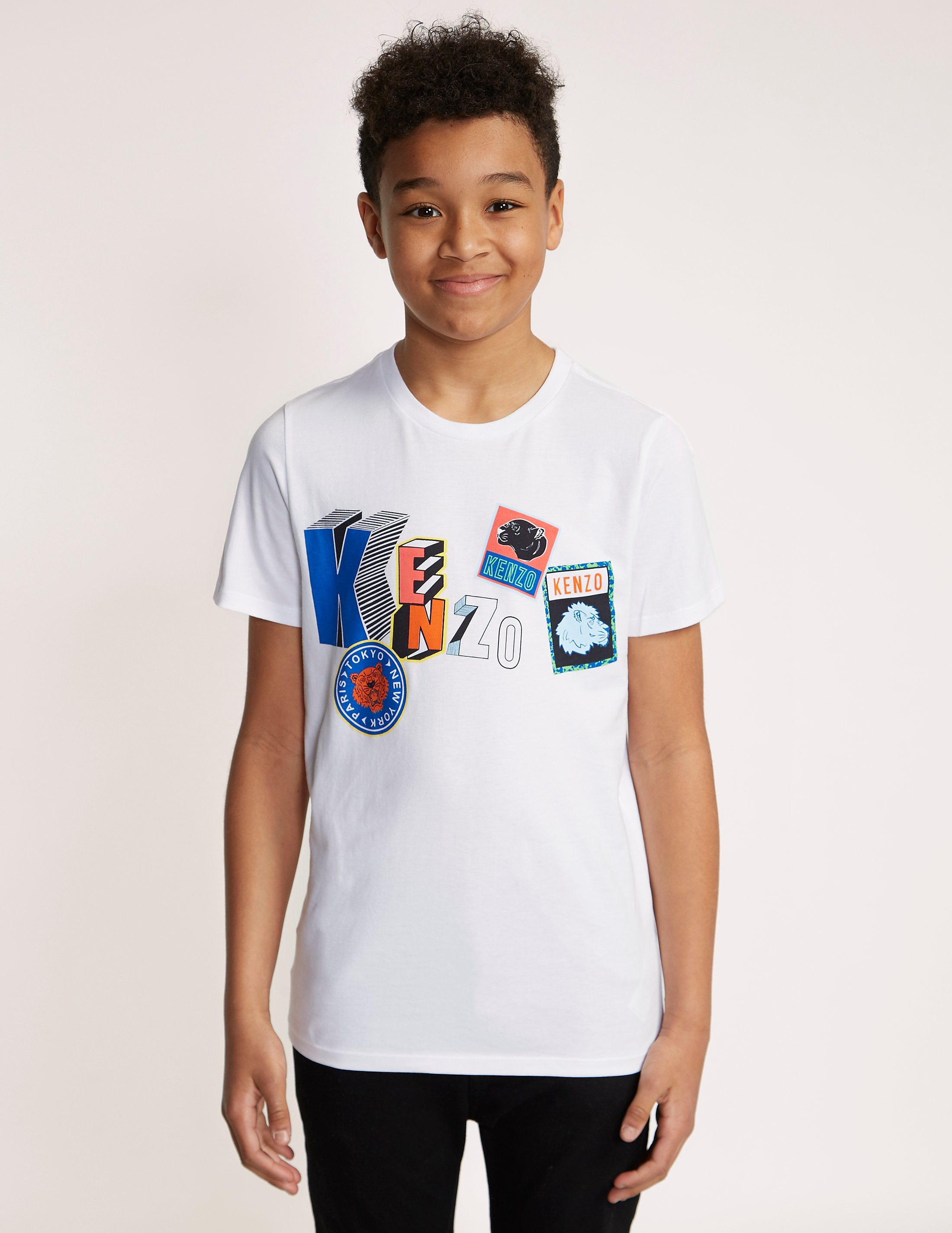 KENZO Wildlife Badges Short Sleeve T-Shirt