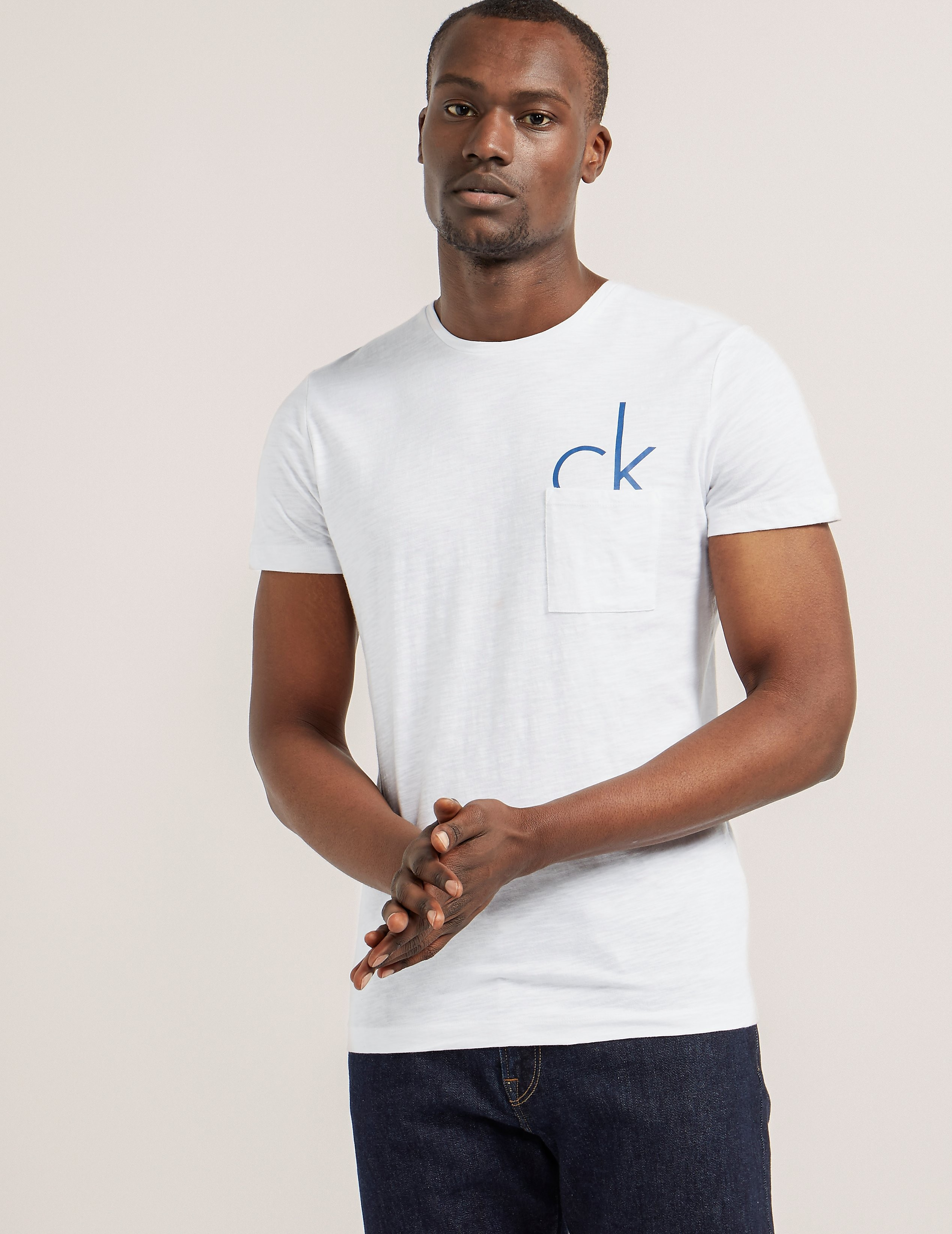 Calvin Klein Pocket Half Logo Short Sleeve T-Shirt