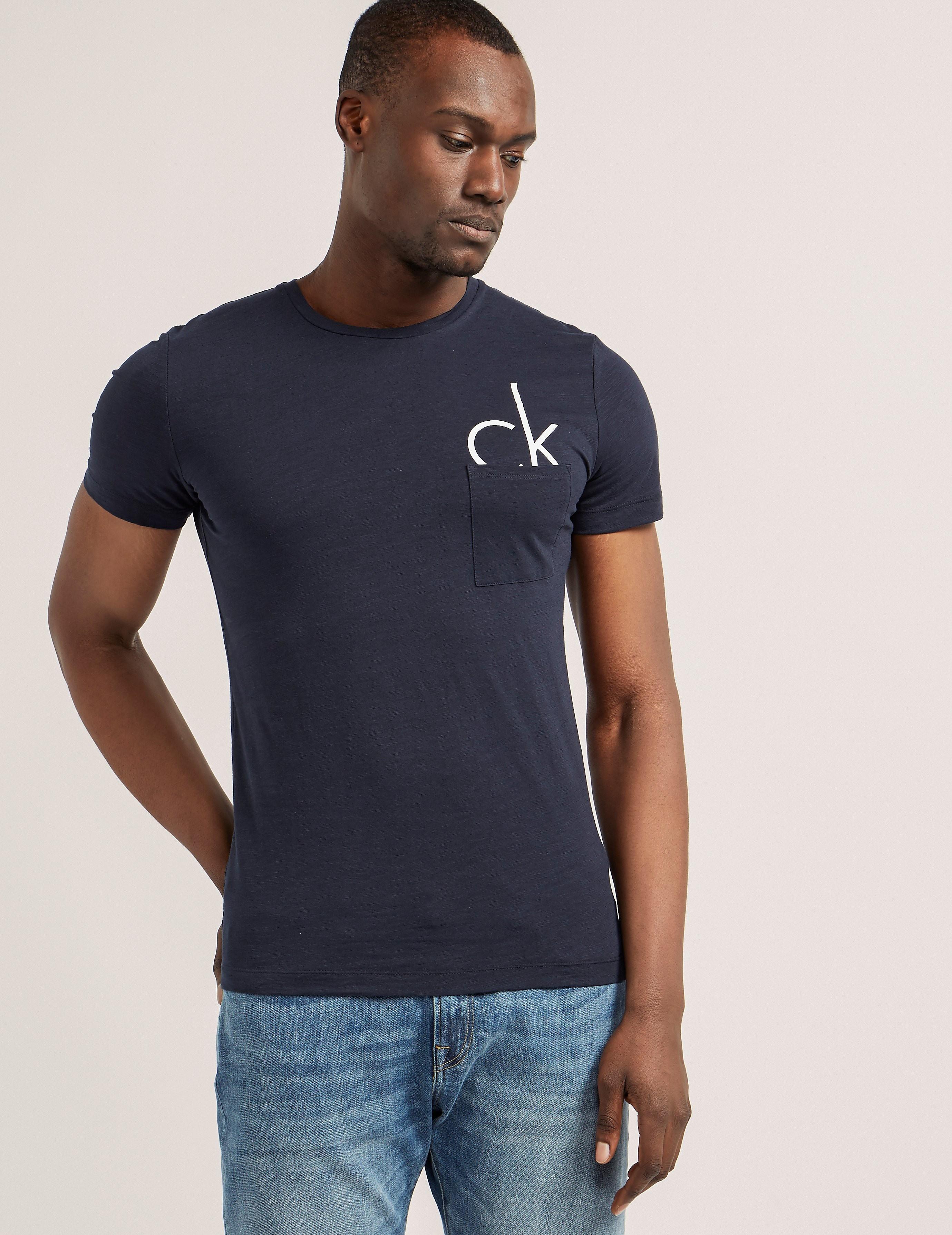 Calvin Klein Pocket Half Logo T-Shirt