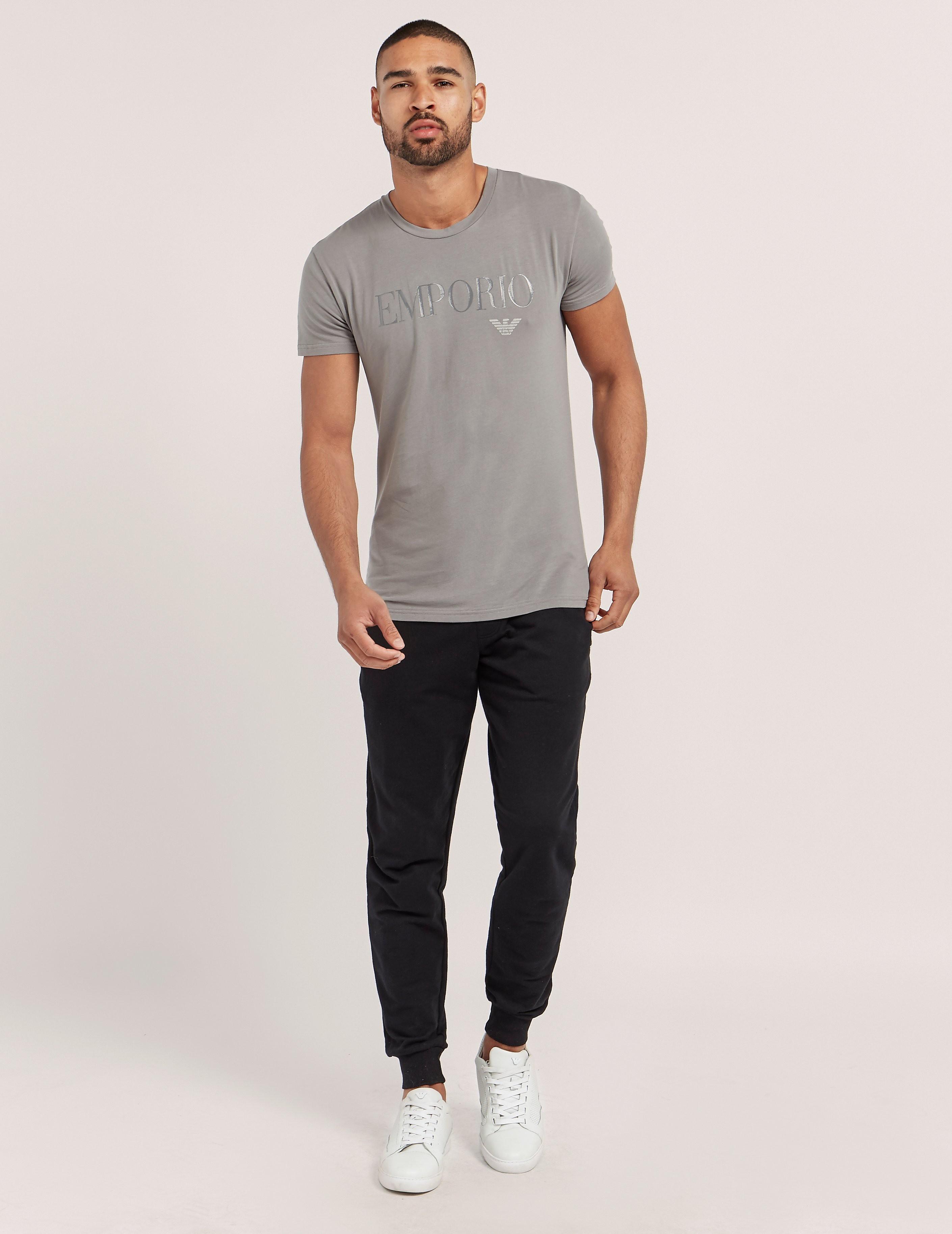 Emporio Armani Gel Print Crew Short Sleeve T-Shirt