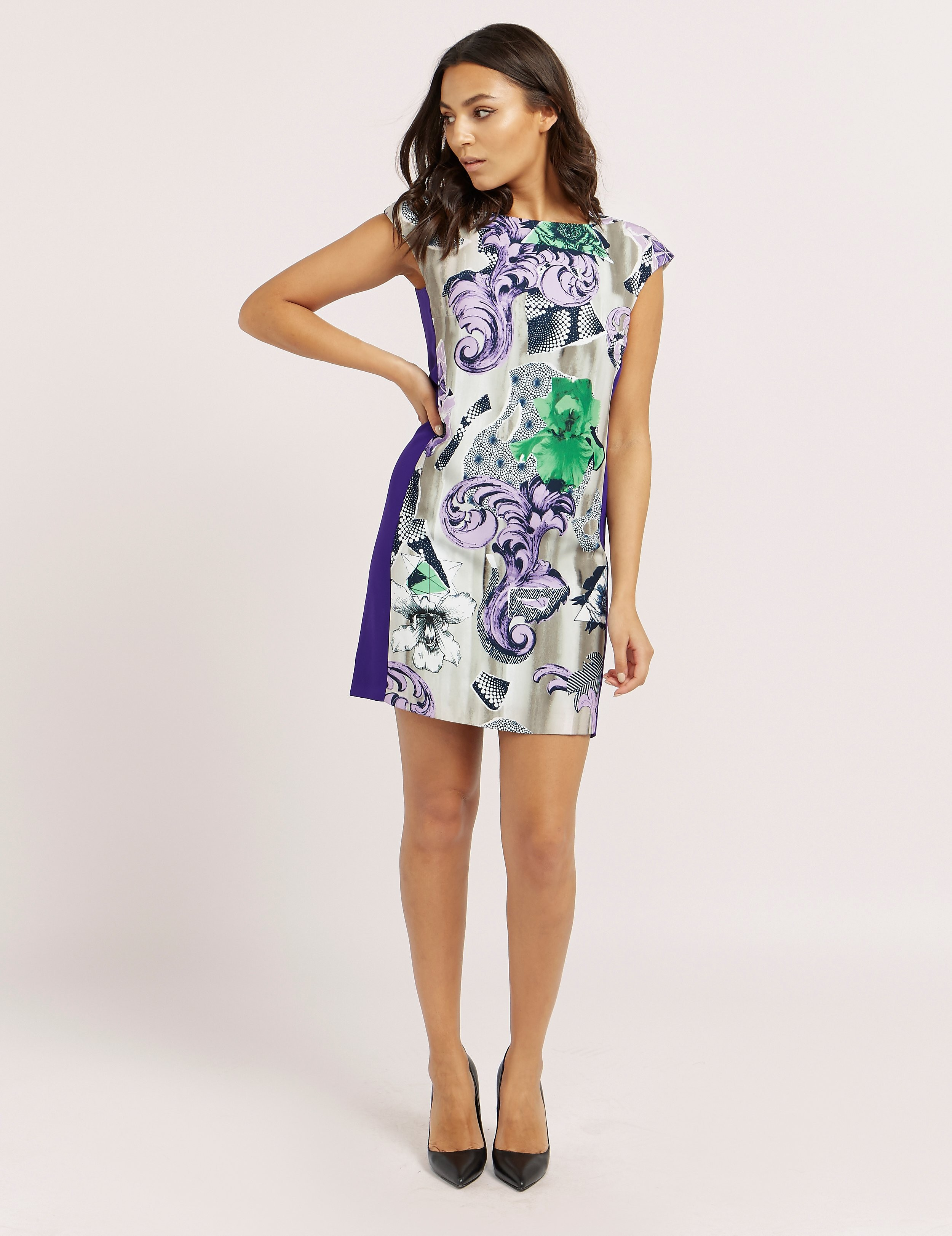 Versace Print Mini Dress