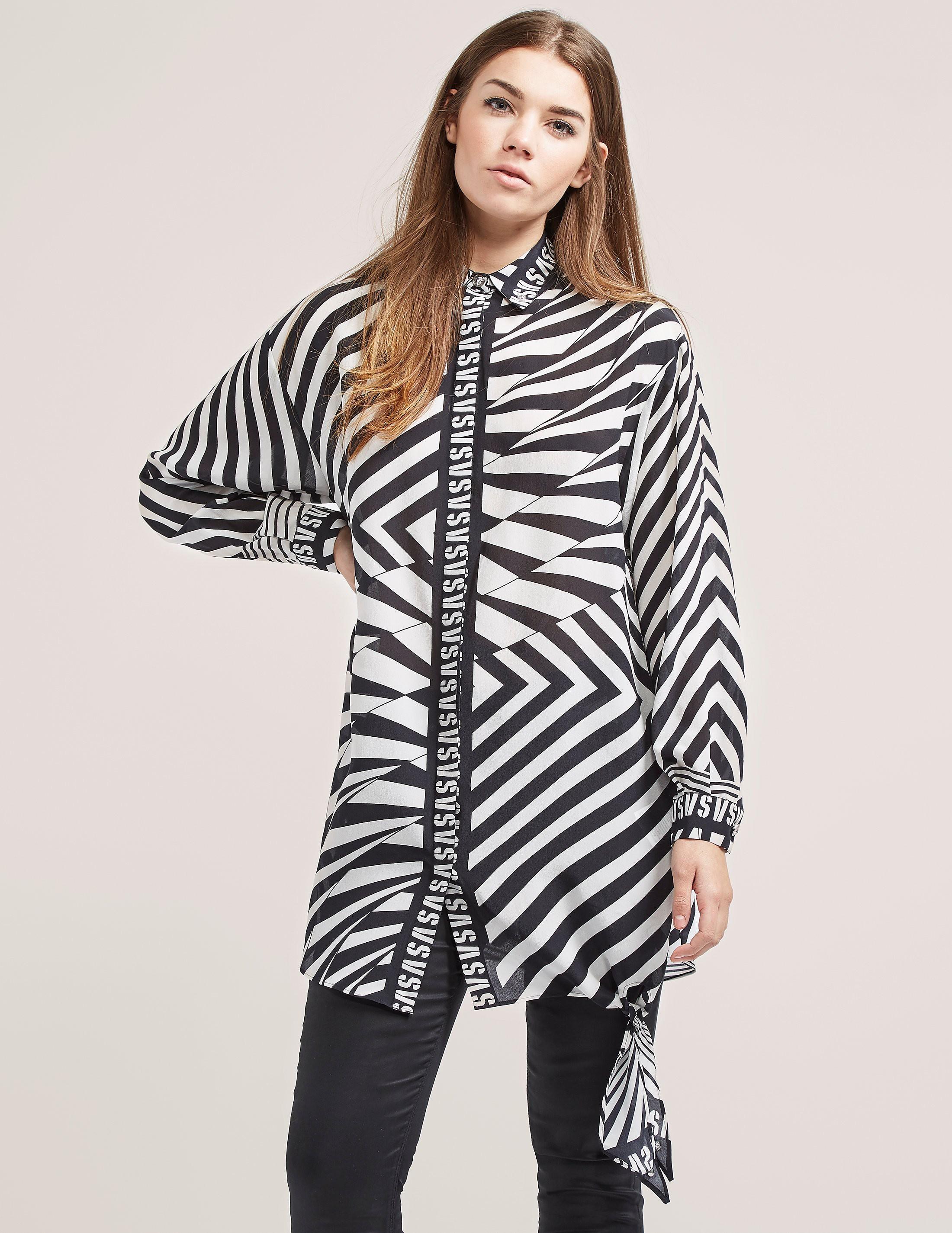 Versus Versace Print Shirt Dress