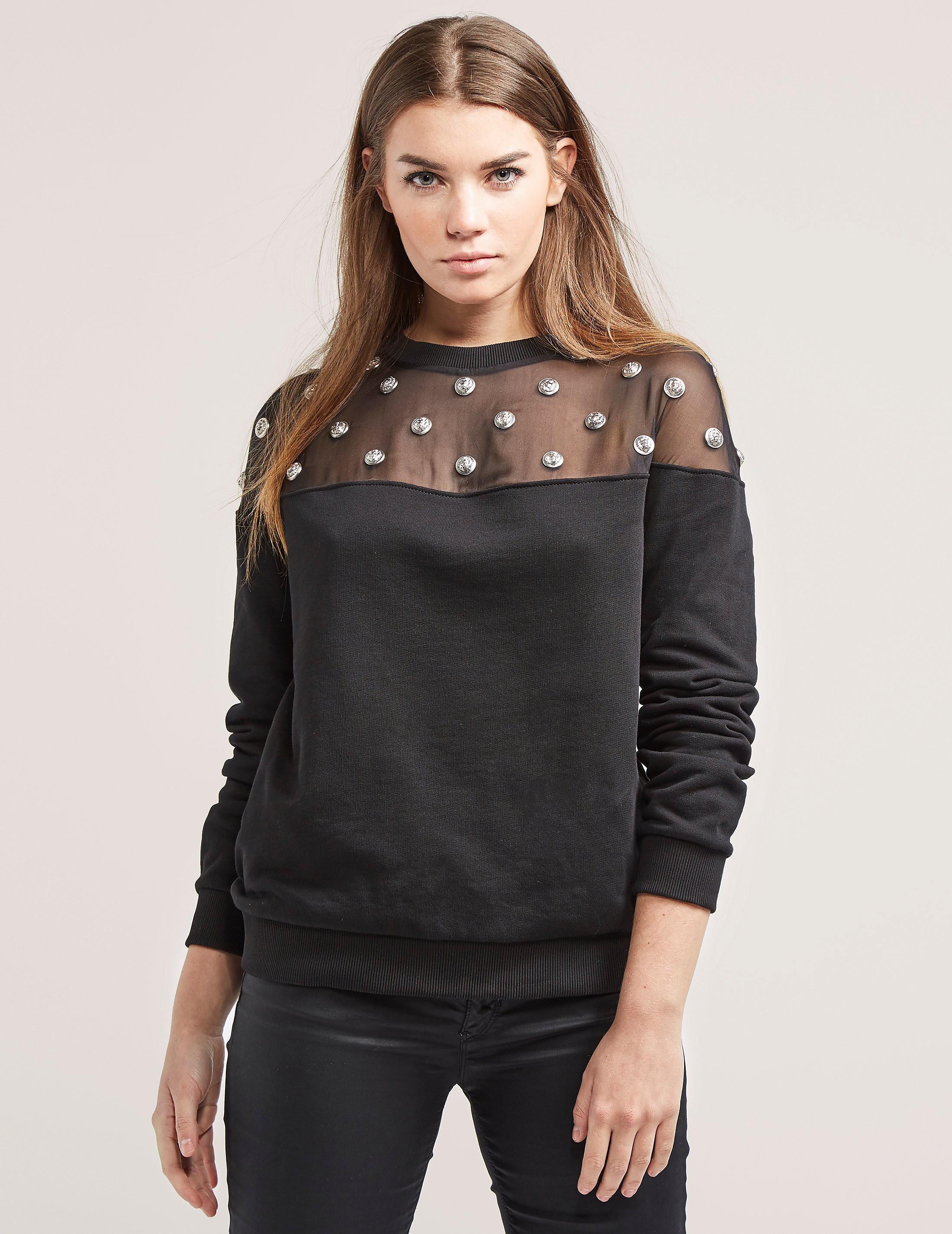 Versus Versace Lion Mesh Sweater