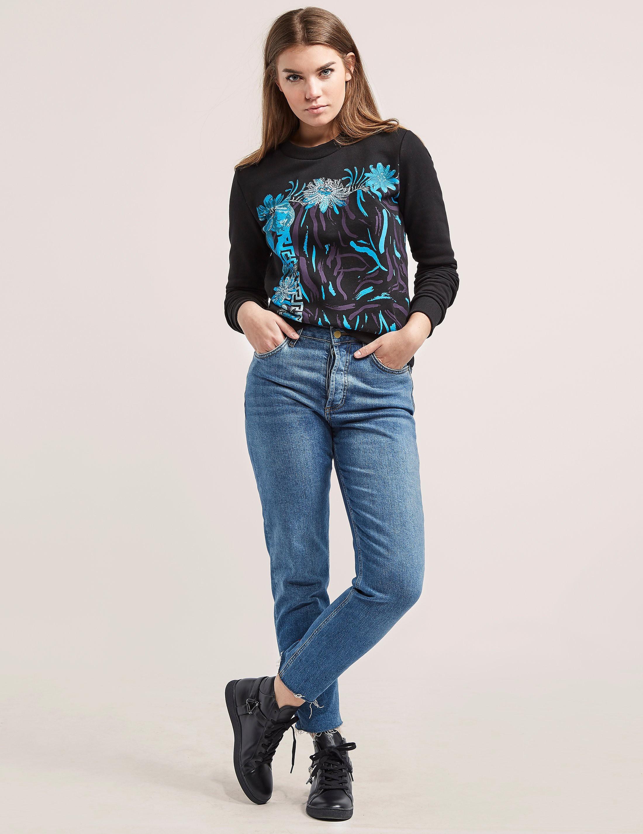 Versus Versace Floral Print Sweatshirt