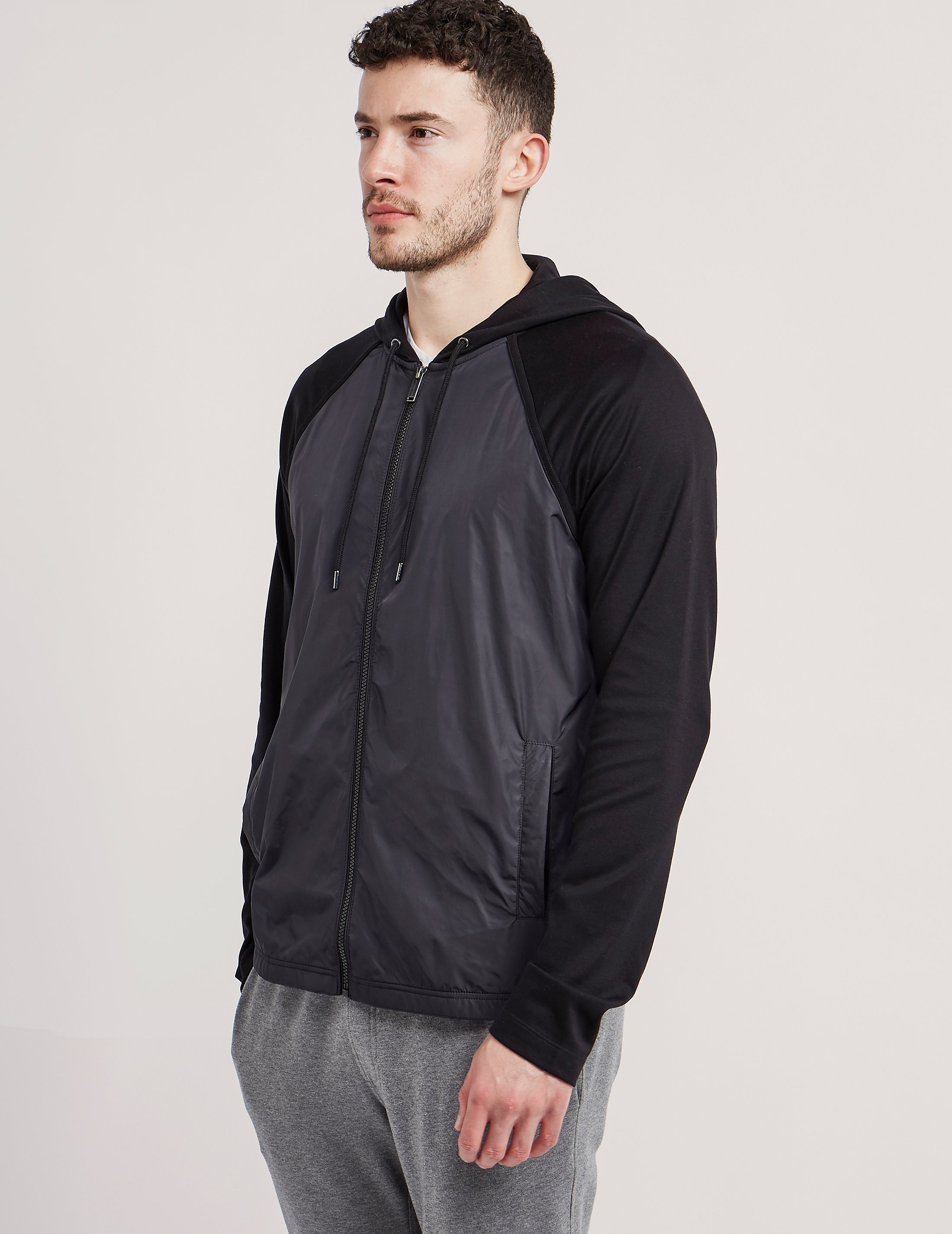 Michael Kors Full Zip Nylon Panel Hoody