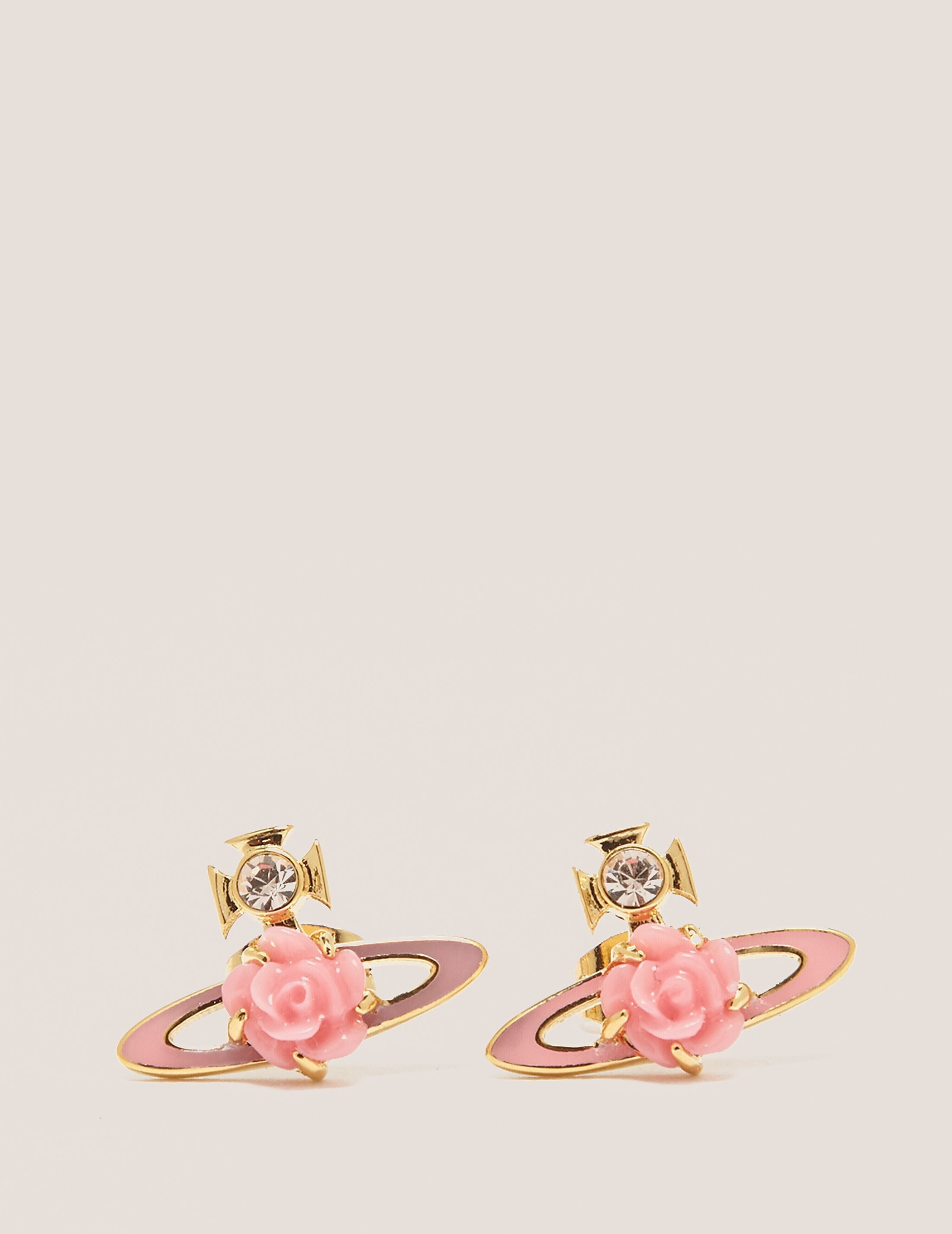 Vivienne Westwood Rose Stud Earrings