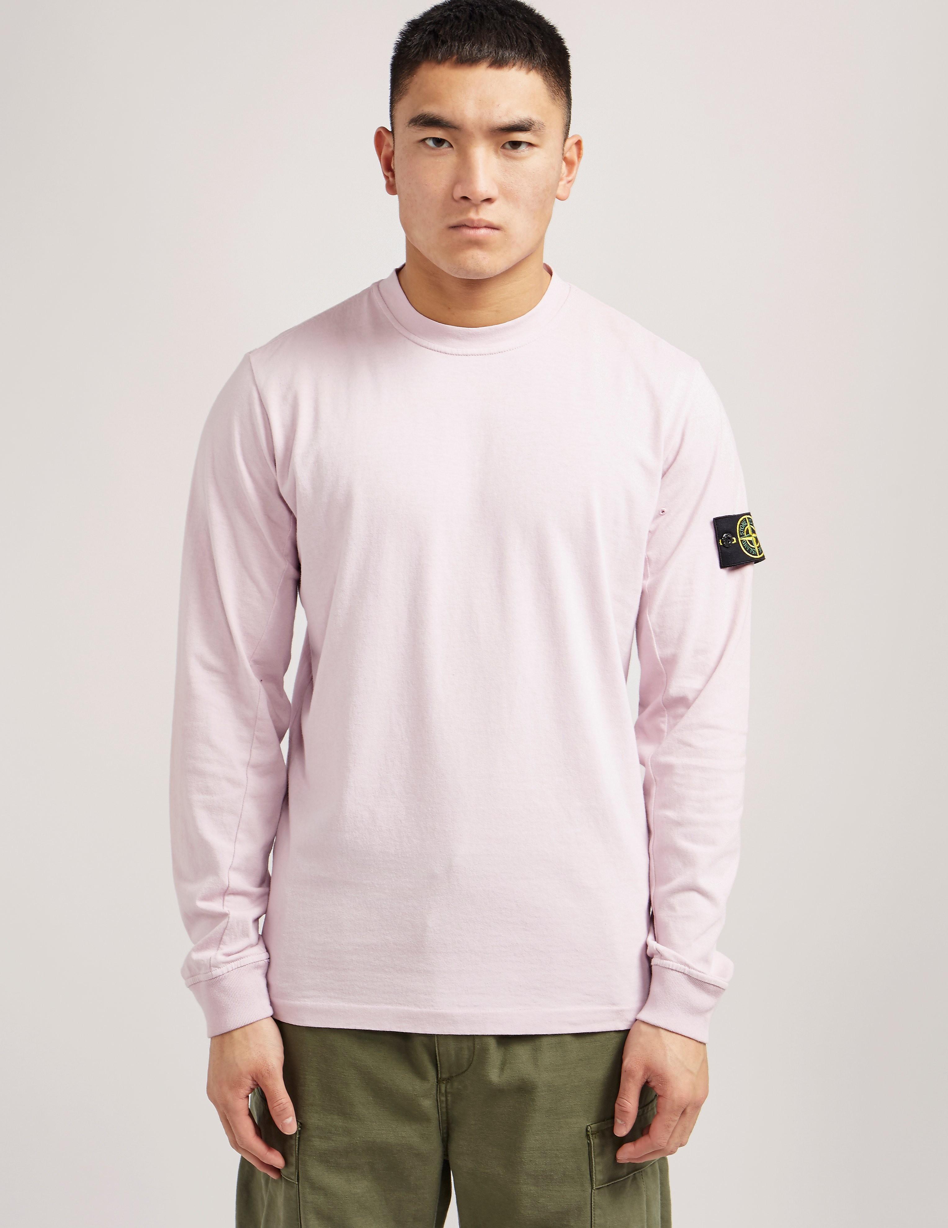 Stone Island Badge Long Sleeve T-Shirt