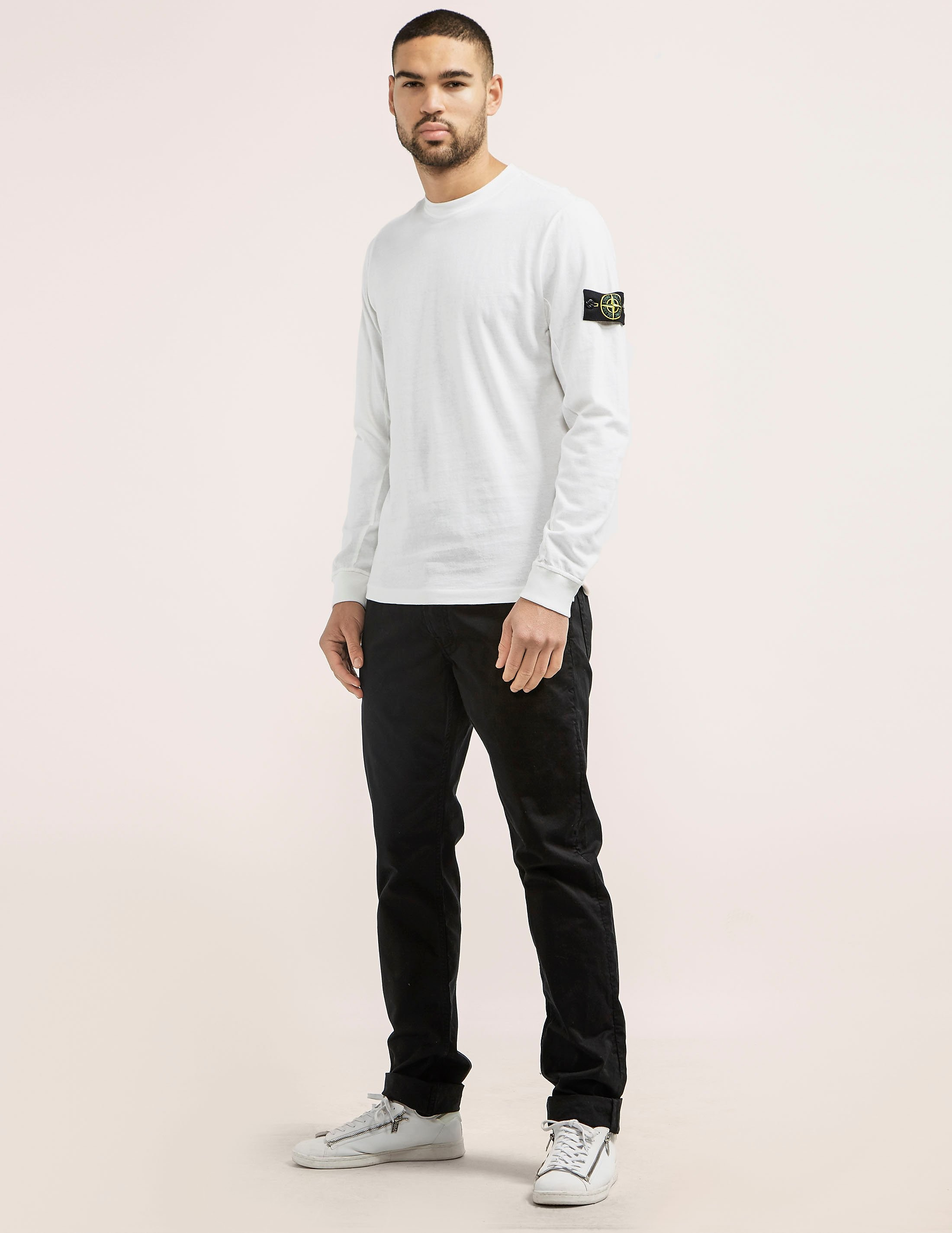 Stone Island Badge Long Sleeve T-Shirt